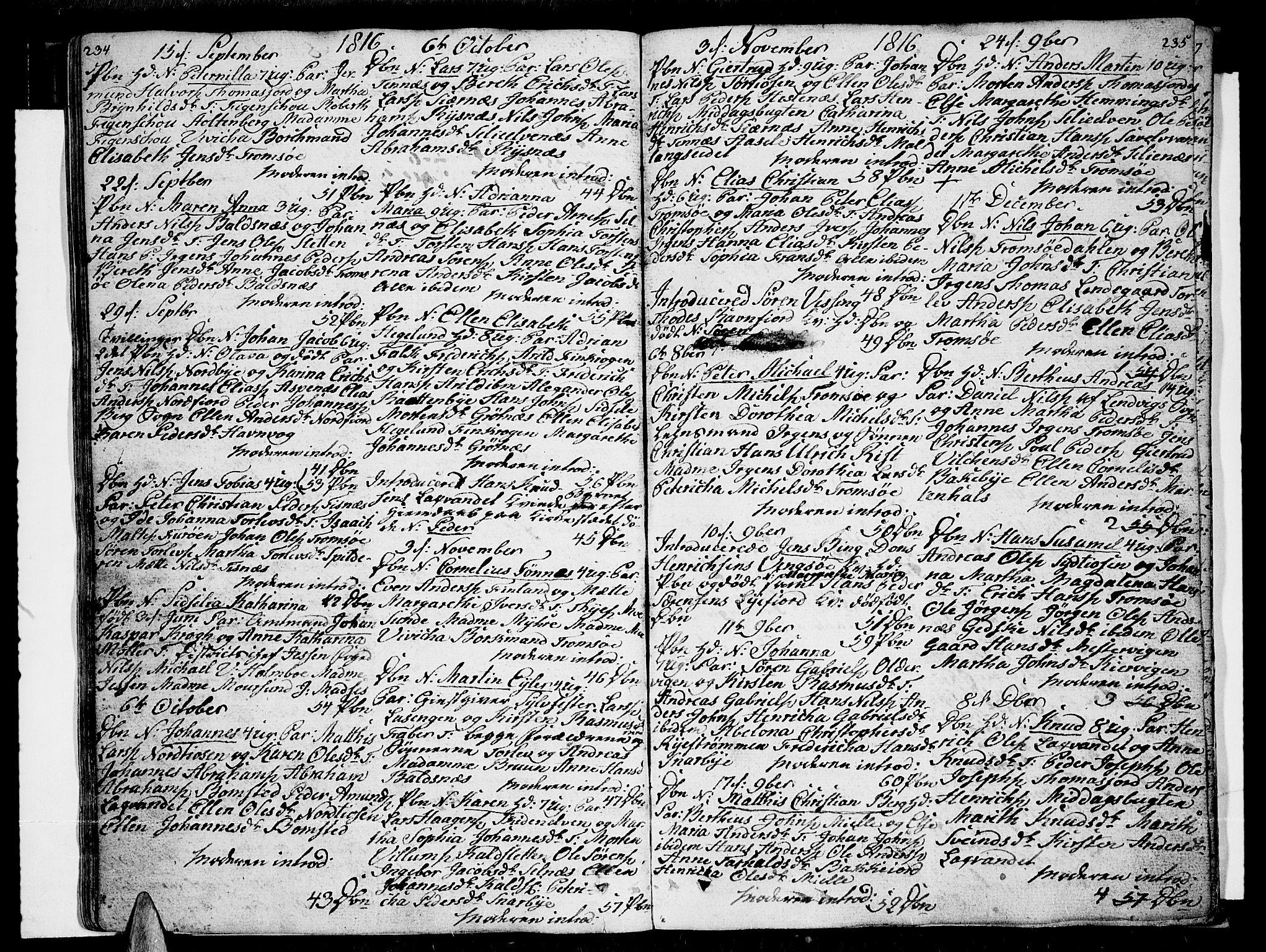 SATØ, Tromsø sokneprestkontor/stiftsprosti/domprosti, G/Ga/L0006kirke: Ministerialbok nr. 6, 1806-1821, s. 234-235