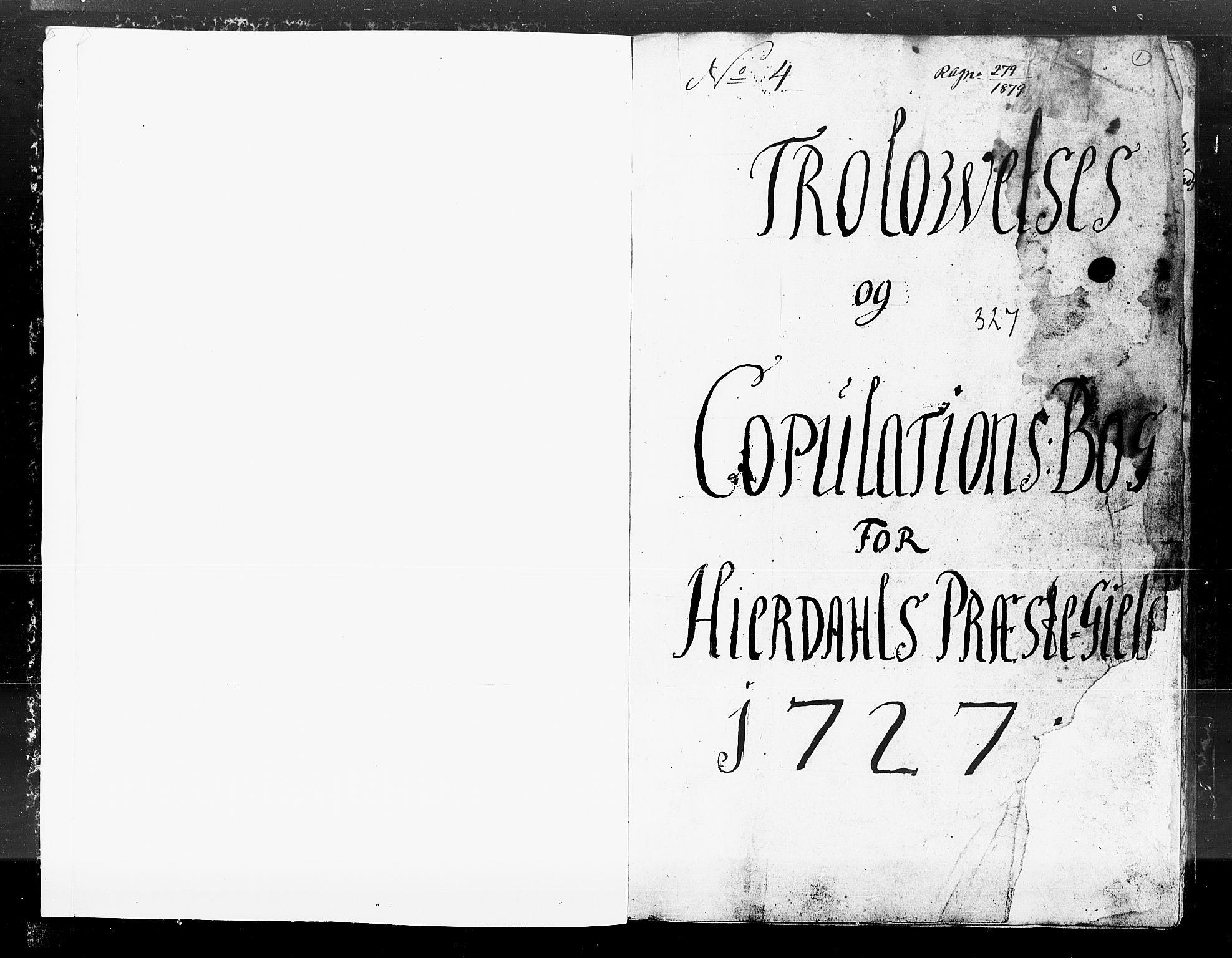 SAKO, Hjartdal kirkebøker, F/Fa/L0004: Ministerialbok nr. I 4, 1727-1795, s. 1