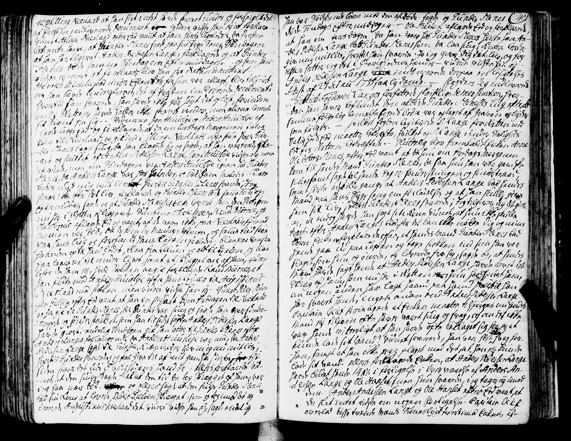 SAT, Romsdal sorenskriveri, 1/1A/L0013: Tingbok, 1749-1757, s. 400-401