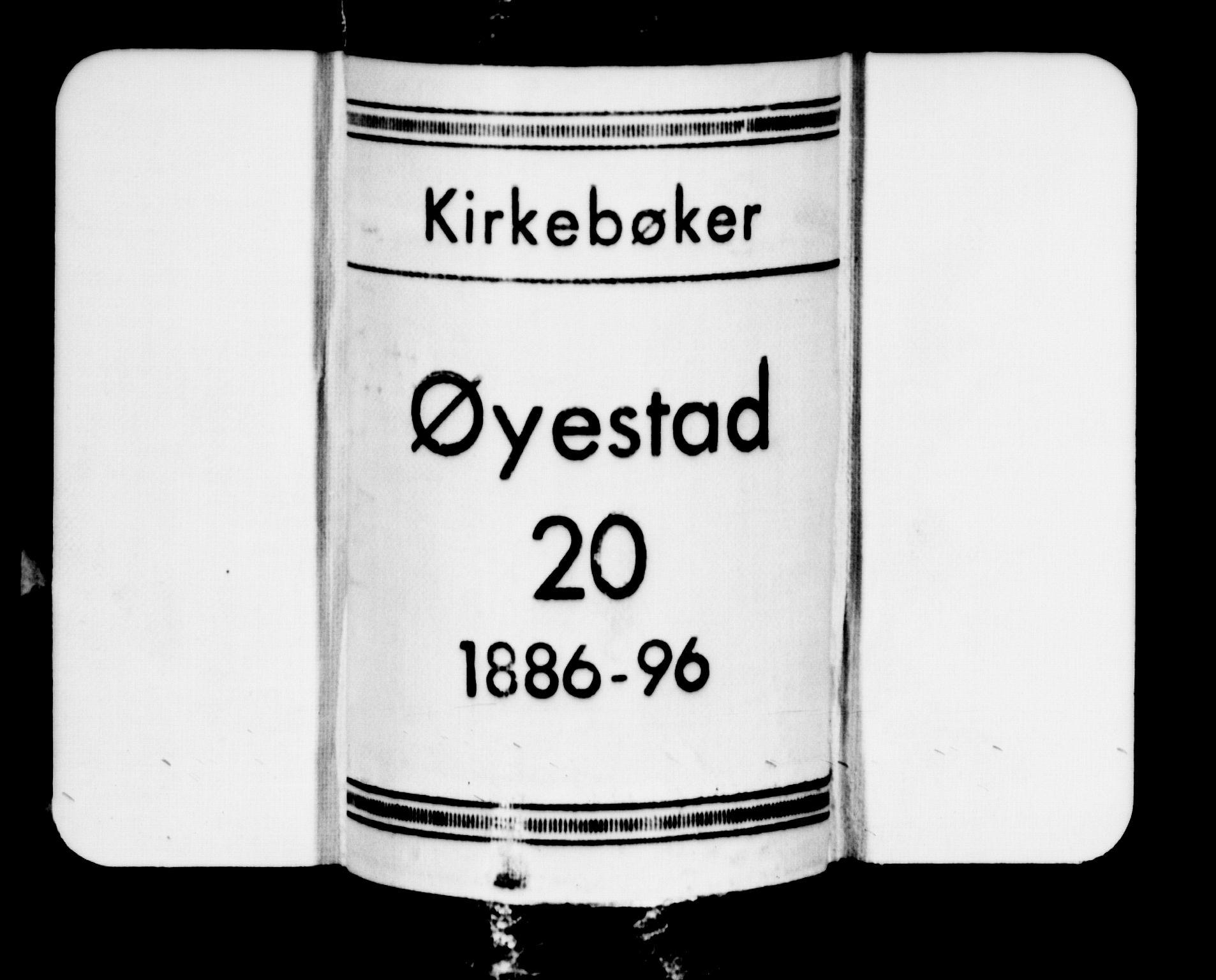 SAK, Øyestad sokneprestkontor, F/Fb/L0009: Klokkerbok nr. B 9, 1886-1896