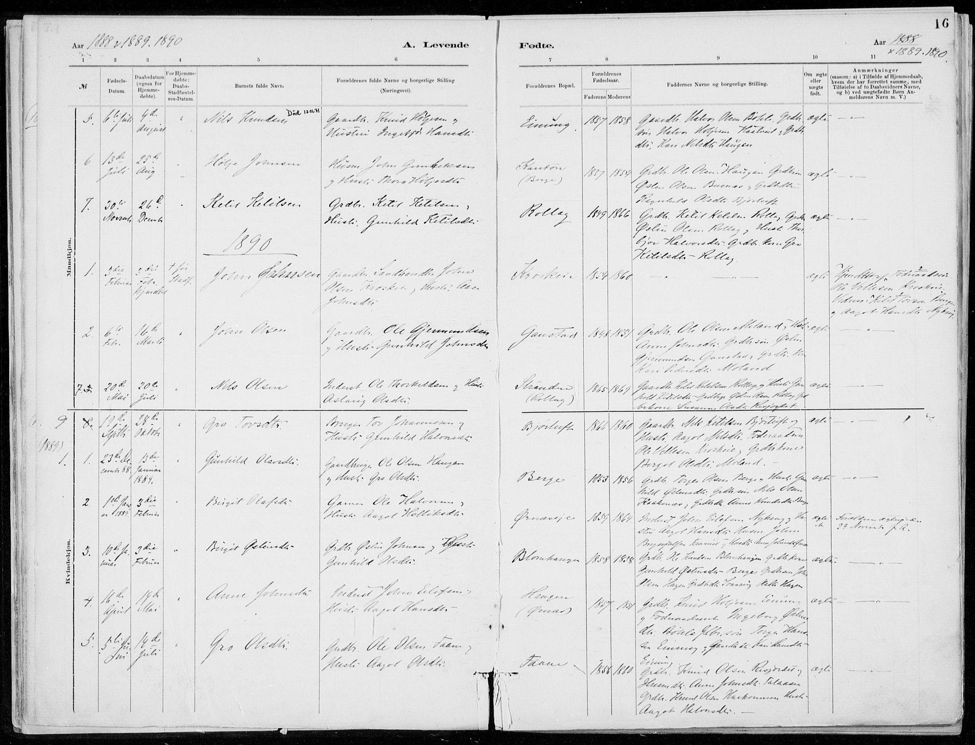 SAKO, Tinn kirkebøker, F/Fb/L0002: Ministerialbok nr. II 2, 1878-1917, s. 16