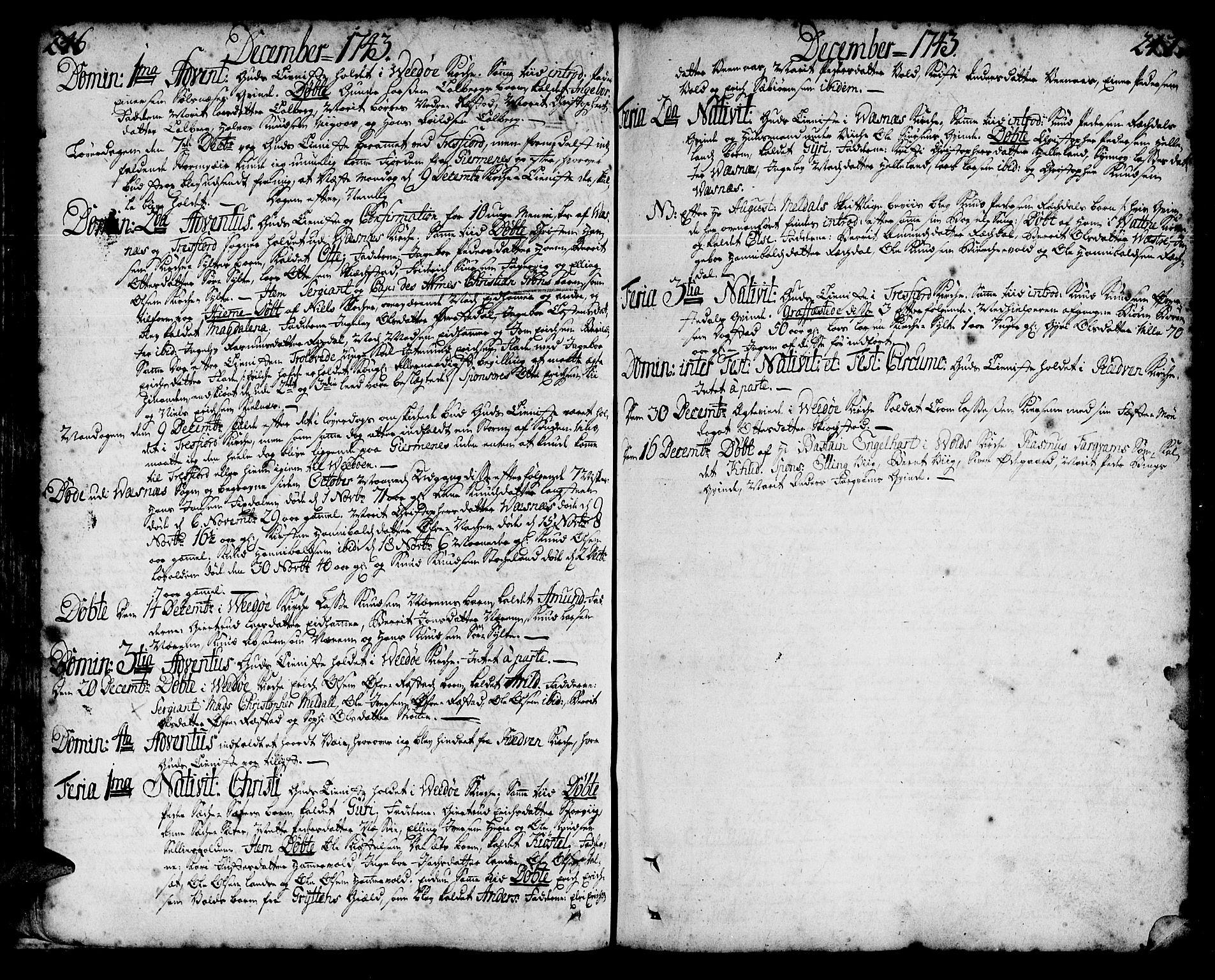 SAT, Ministerialprotokoller, klokkerbøker og fødselsregistre - Møre og Romsdal, 547/L0599: Ministerialbok nr. 547A01, 1721-1764, s. 246-247