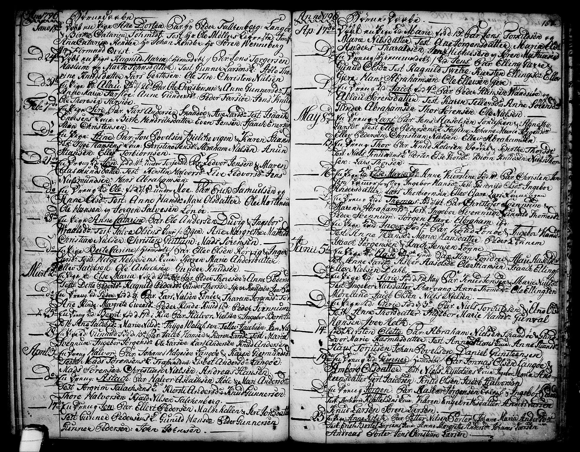 SAKO, Sannidal kirkebøker, F/Fa/L0002: Ministerialbok nr. 2, 1767-1802, s. 150