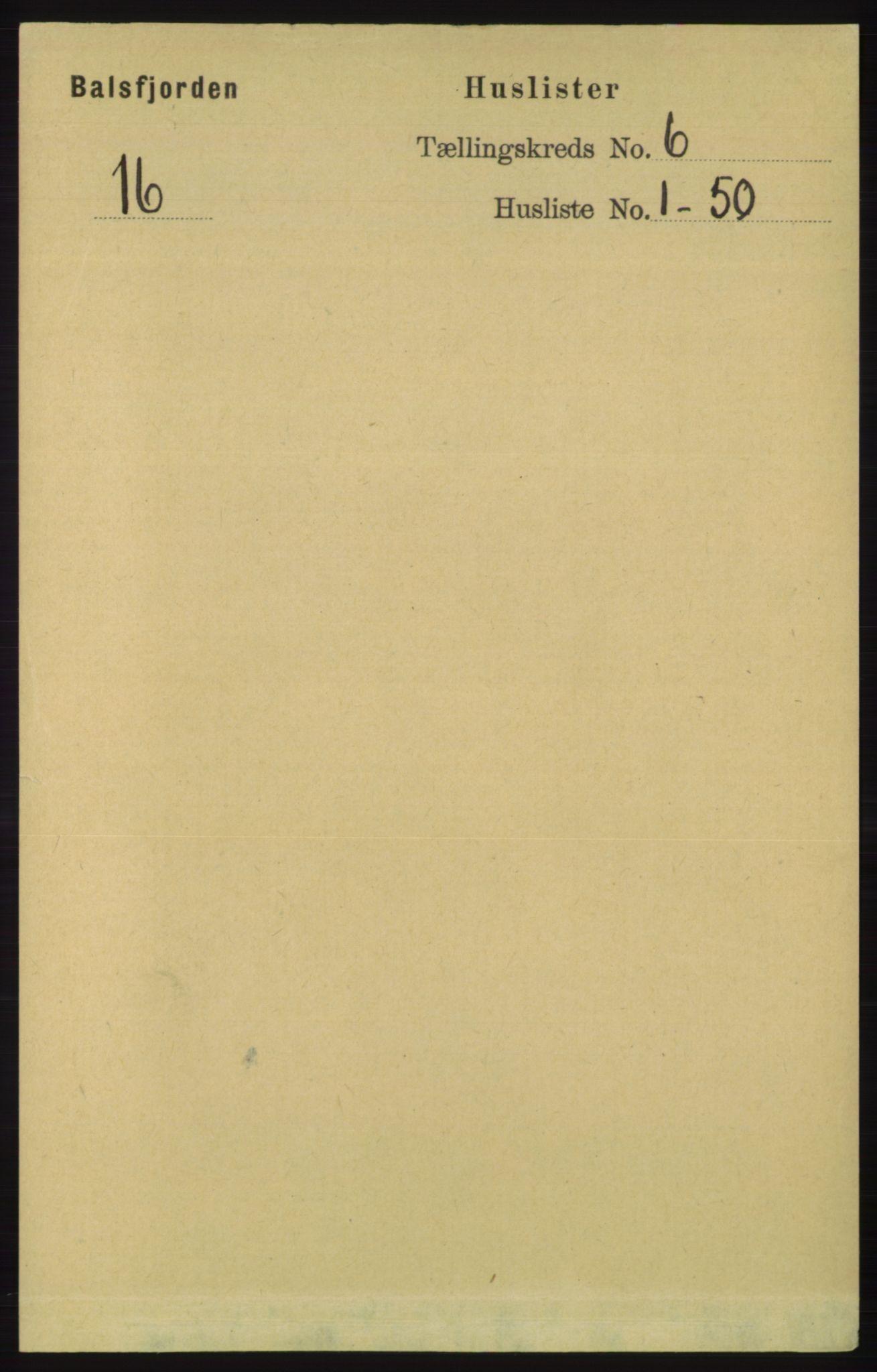 RA, Folketelling 1891 for 1933 Balsfjord herred, 1891, s. 1541