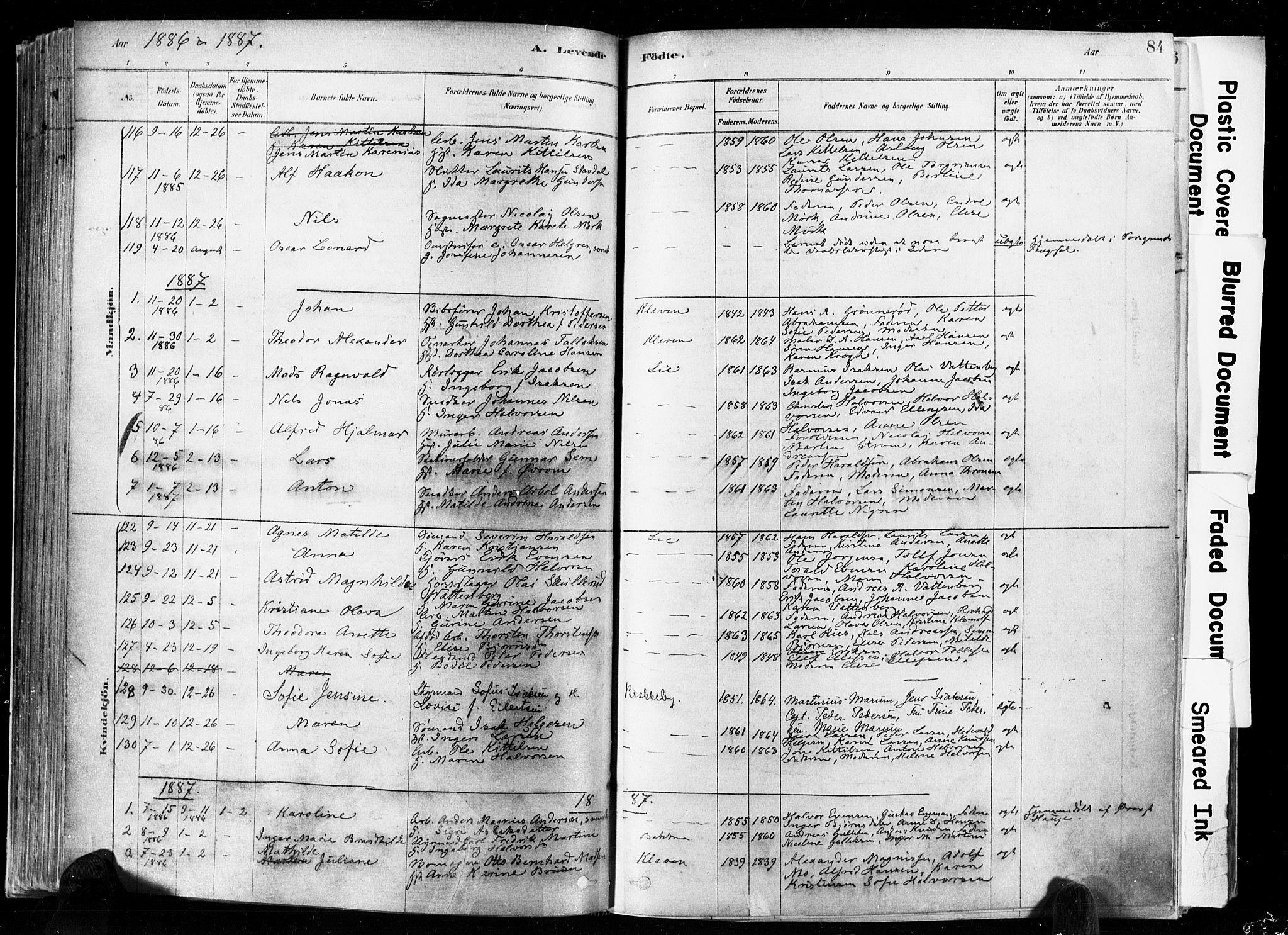 SAKO, Skien kirkebøker, F/Fa/L0009: Ministerialbok nr. 9, 1878-1890, s. 84