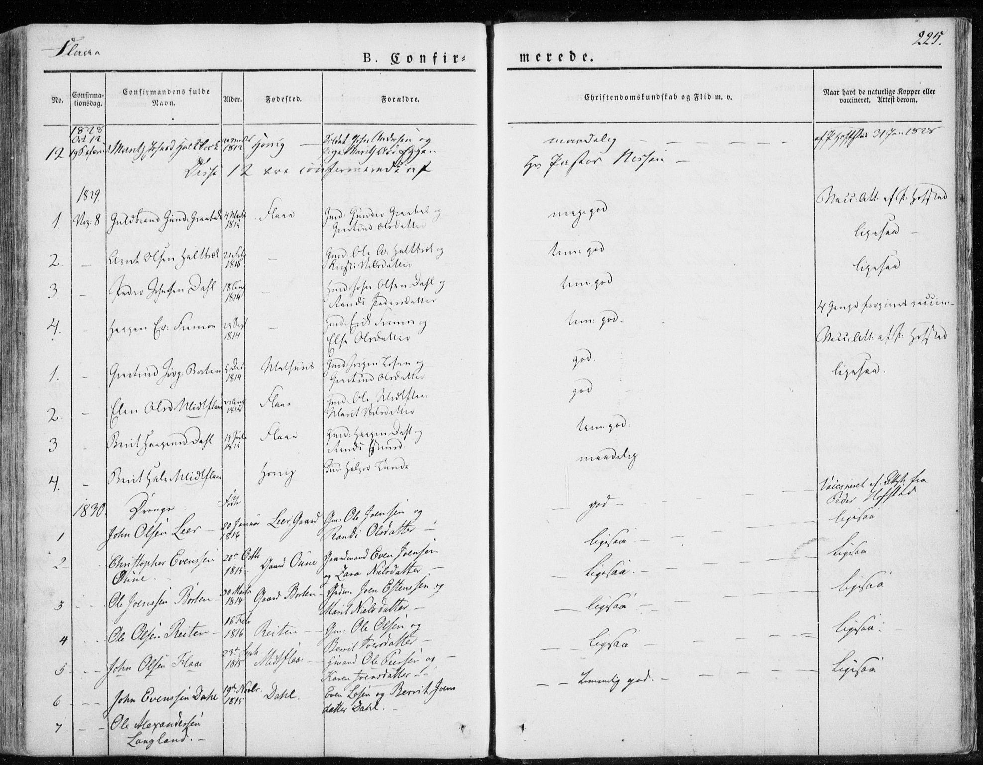 SAT, Ministerialprotokoller, klokkerbøker og fødselsregistre - Sør-Trøndelag, 691/L1069: Ministerialbok nr. 691A04, 1826-1841, s. 225