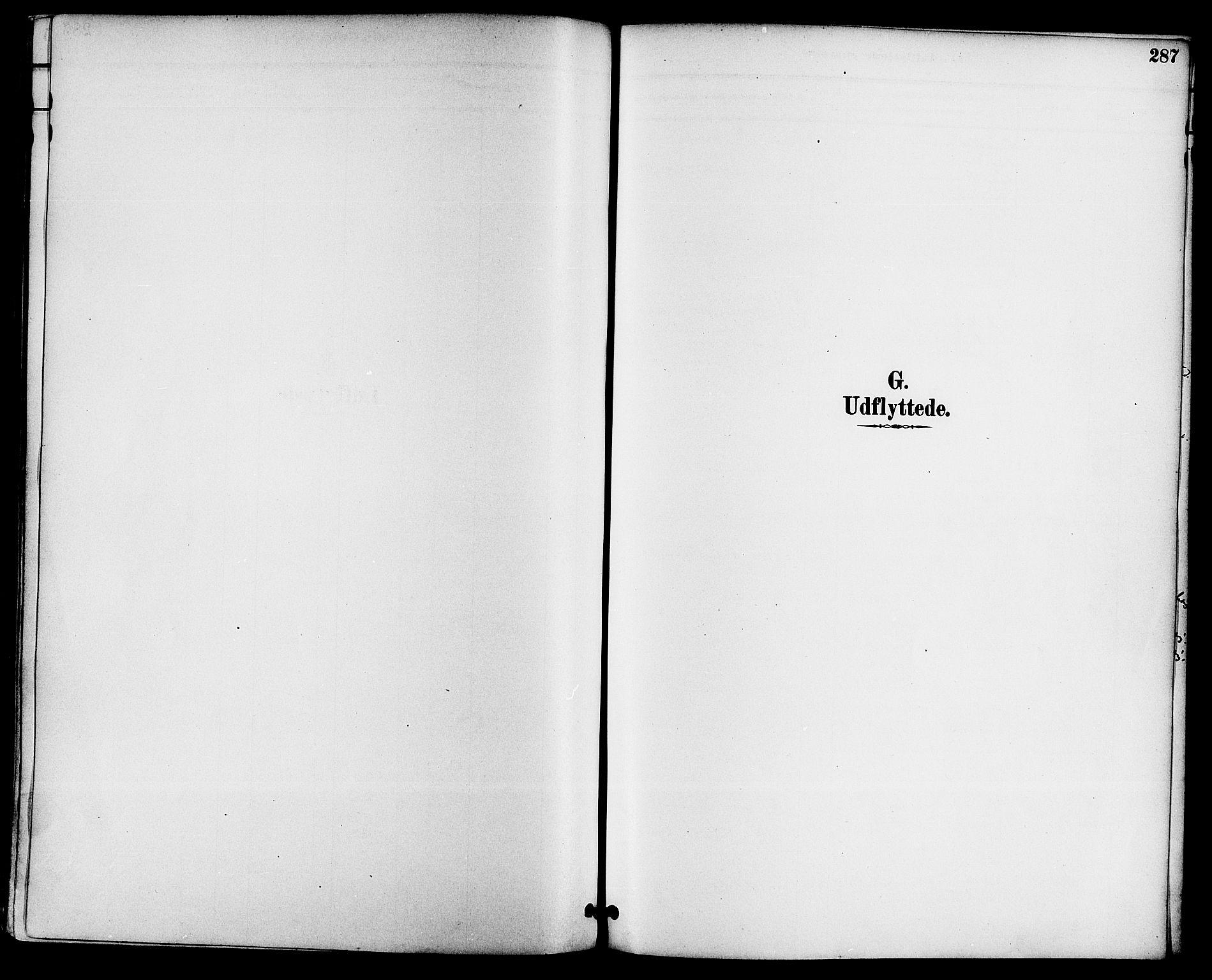 SAKO, Gjerpen kirkebøker, F/Fa/L0010: Ministerialbok nr. 10, 1886-1895, s. 287