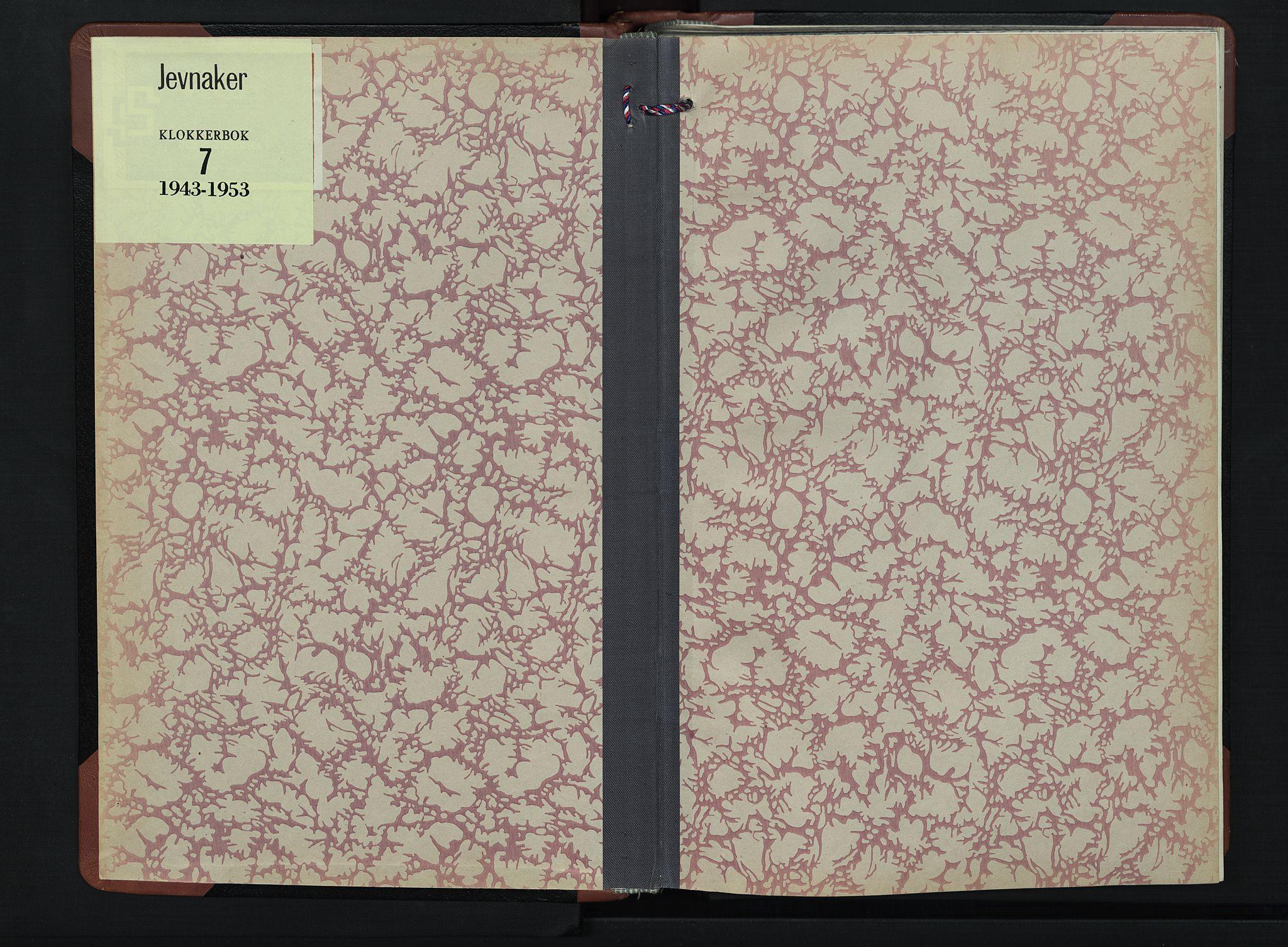 SAH, Jevnaker prestekontor, Klokkerbok nr. 7, 1943-1953