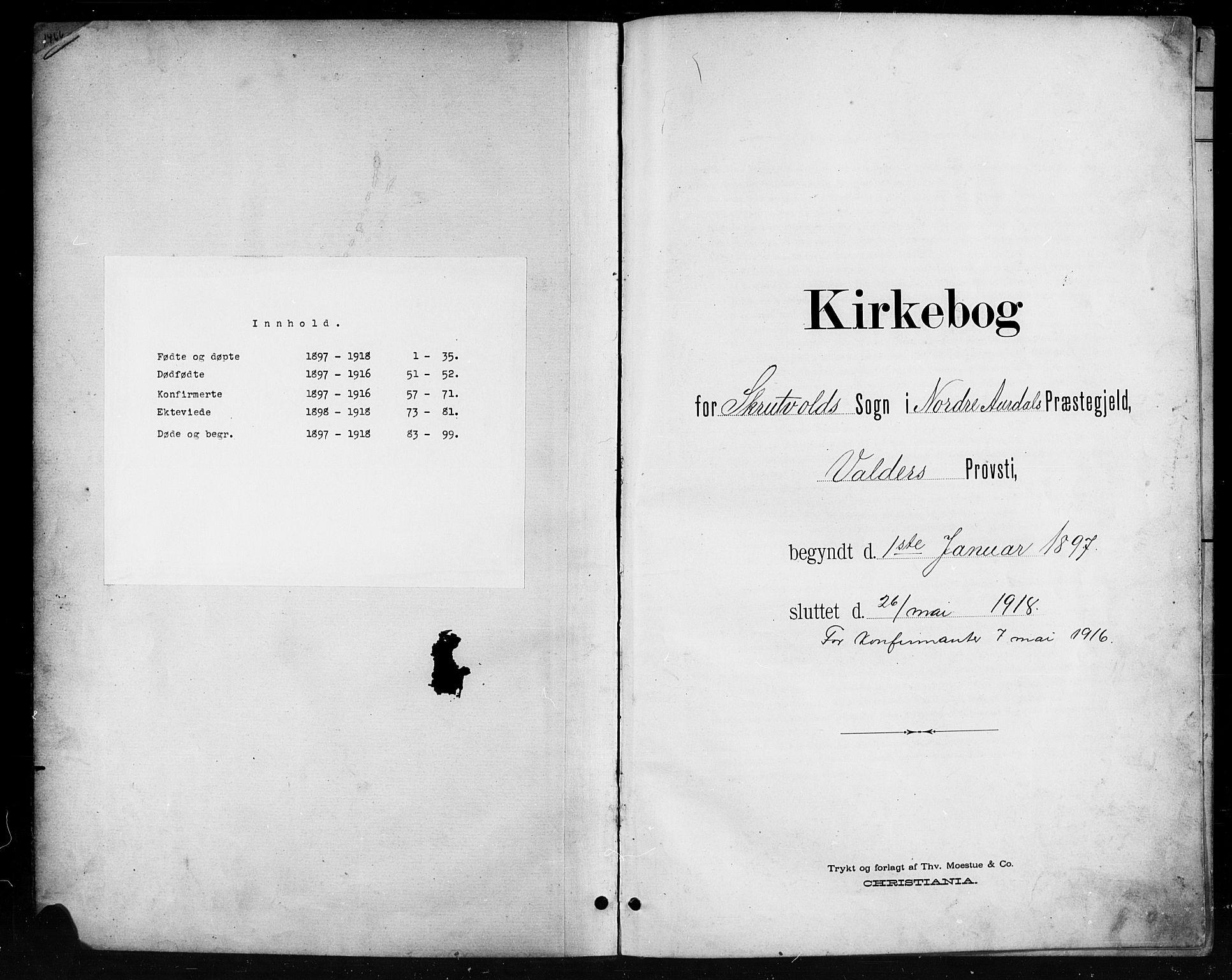 SAH, Nord-Aurdal prestekontor, Klokkerbok nr. 11, 1897-1918