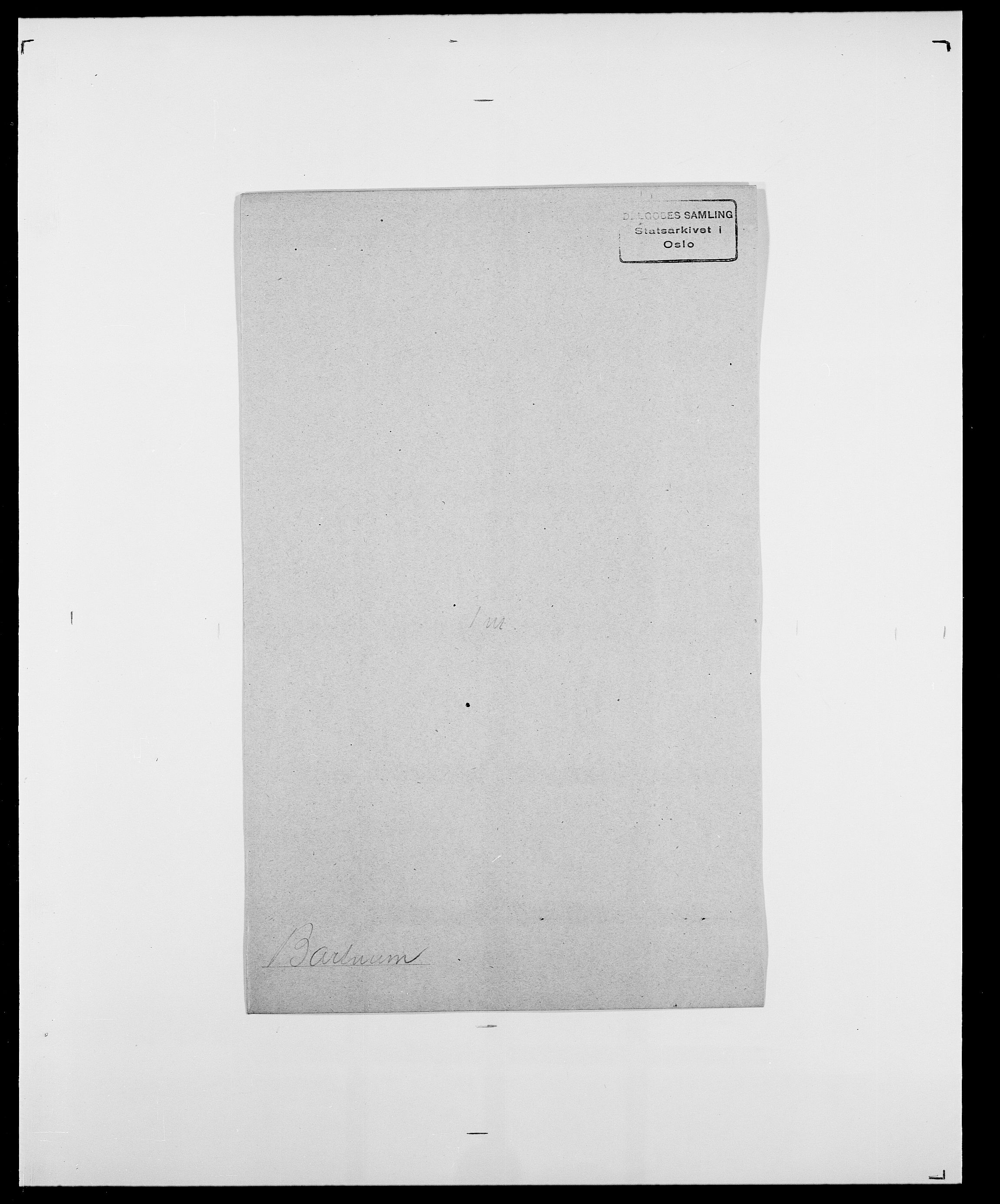 SAO, Delgobe, Charles Antoine - samling, D/Da/L0003: Barca - Bergen, s. 398
