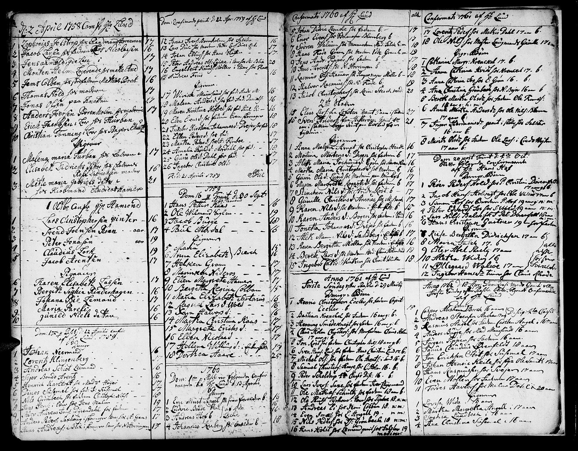 SAT, Ministerialprotokoller, klokkerbøker og fødselsregistre - Sør-Trøndelag, 602/L0133: Klokkerbok nr. 602C01, 1744-1773