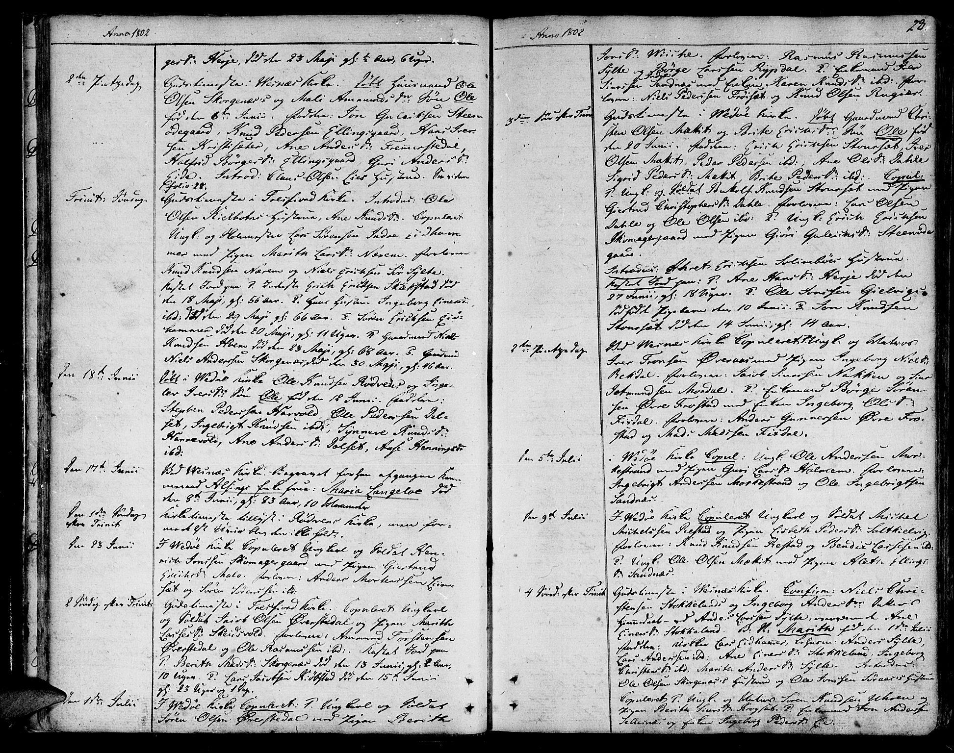 SAT, Ministerialprotokoller, klokkerbøker og fødselsregistre - Møre og Romsdal, 547/L0601: Ministerialbok nr. 547A03, 1799-1818, s. 28