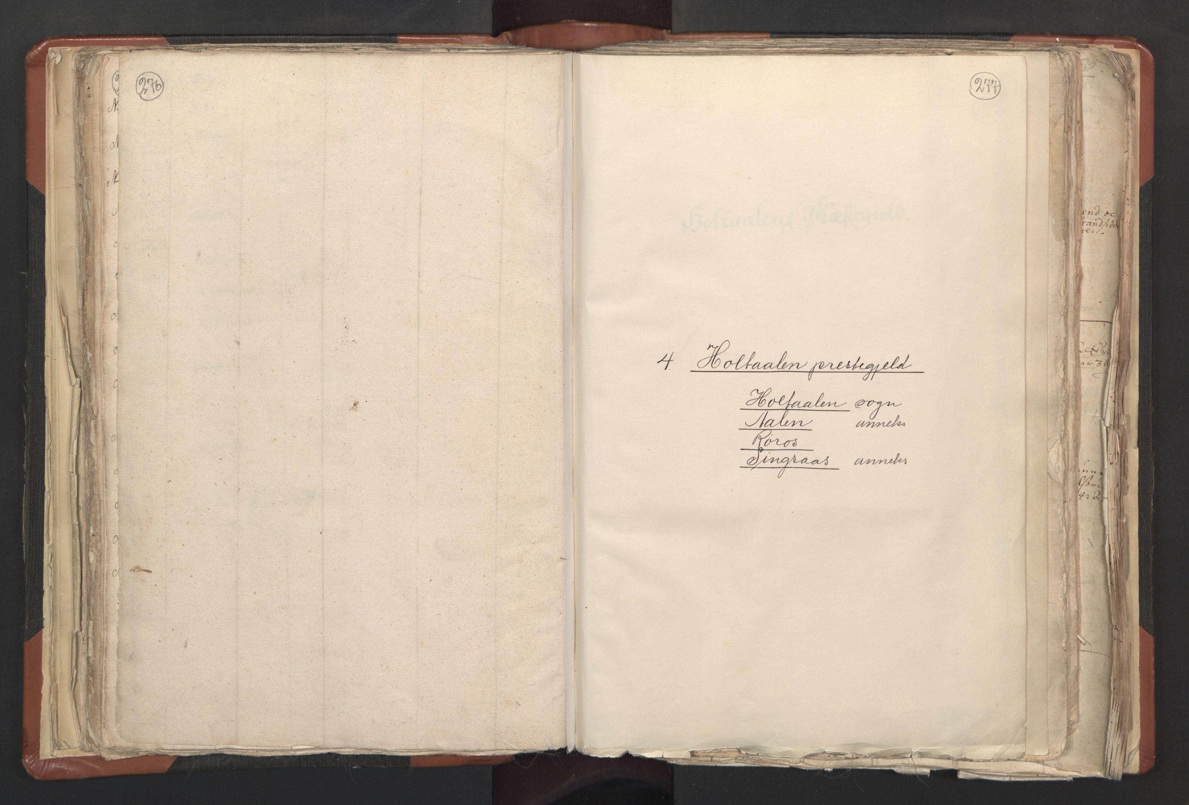 RA, Sogneprestenes manntall 1664-1666, nr. 31: Dalane prosti, 1664-1666, s. 276-277
