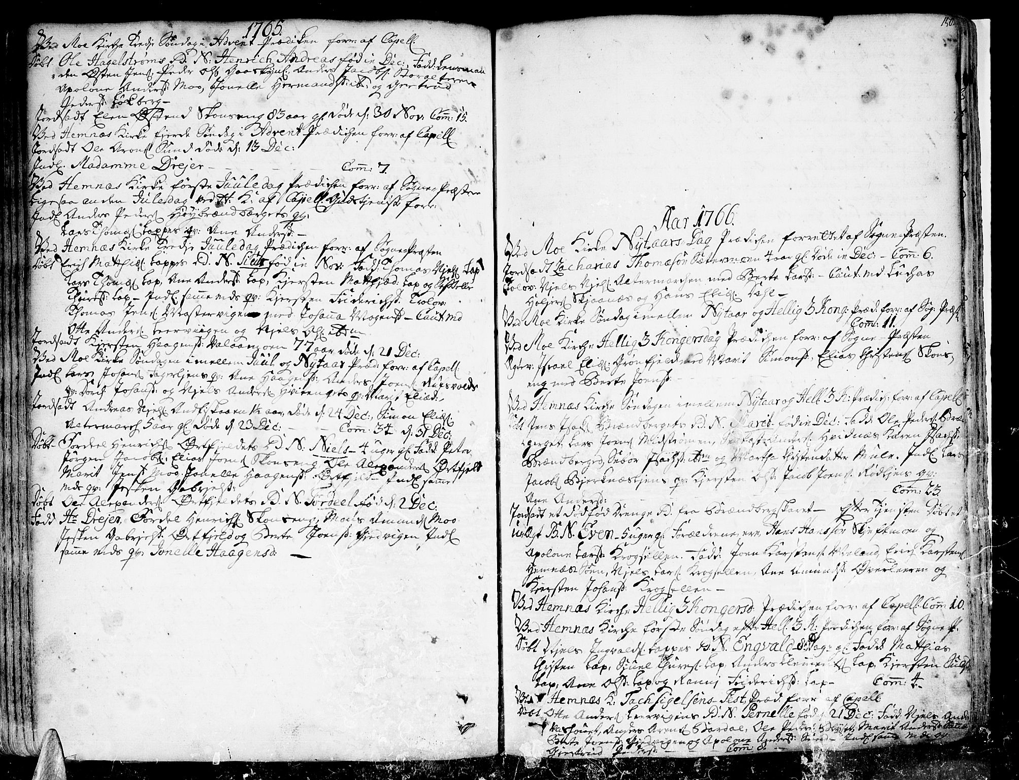 SAT, Ministerialprotokoller, klokkerbøker og fødselsregistre - Nordland, 825/L0348: Ministerialbok nr. 825A04, 1752-1788, s. 150