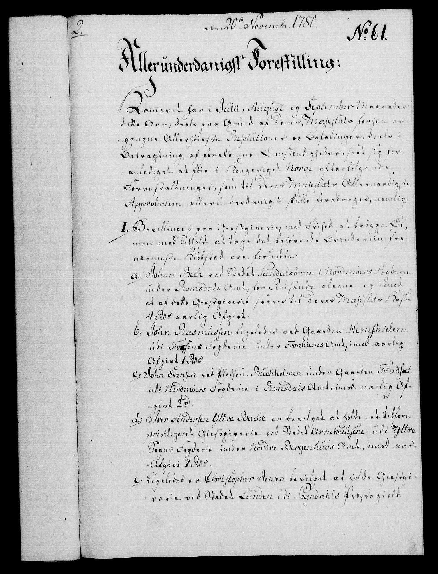 RA, Rentekammeret, Kammerkanselliet, G/Gf/Gfa/L0062: Norsk relasjons- og resolusjonsprotokoll (merket RK 52.62), 1780, s. 527