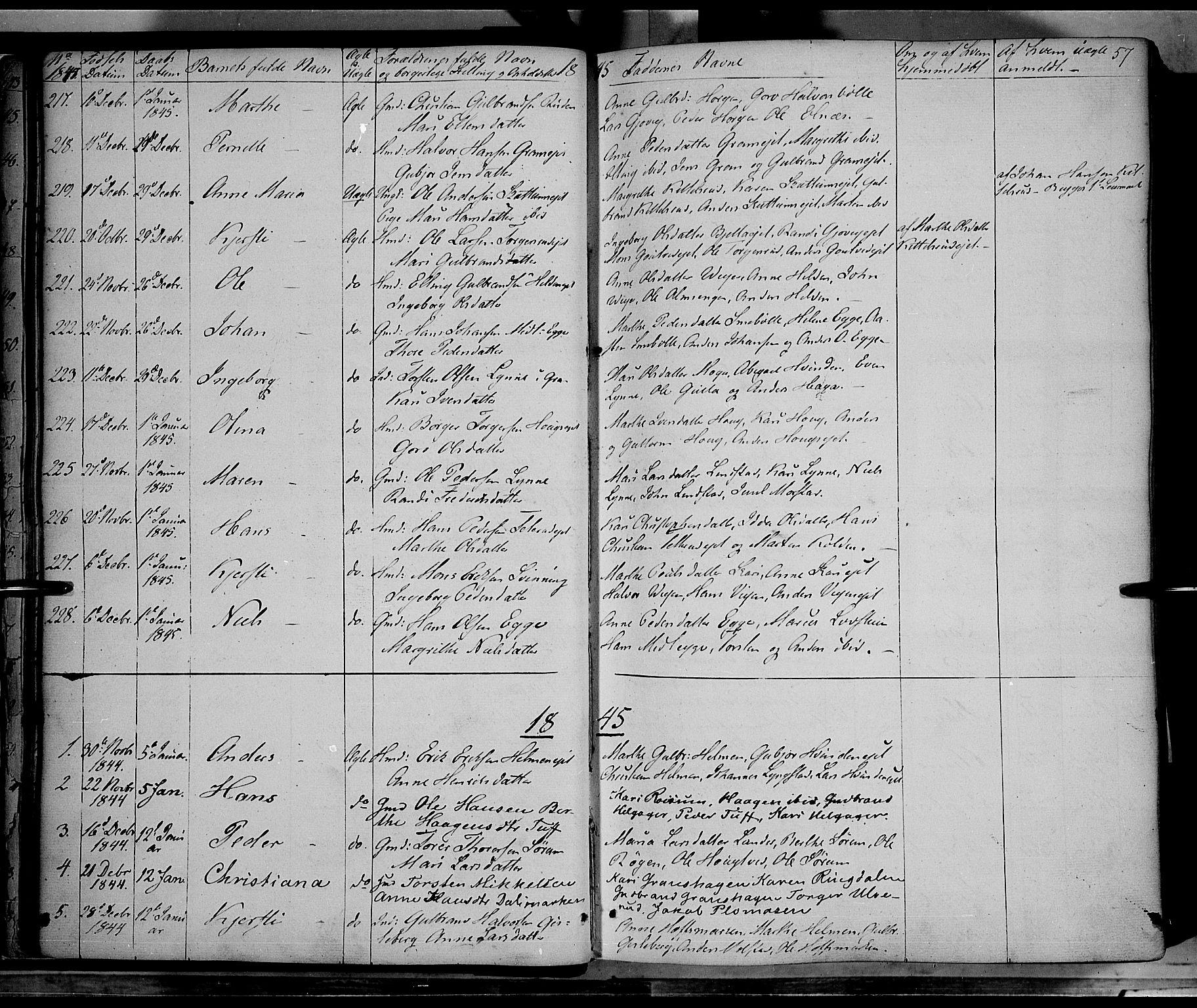 SAH, Gran prestekontor, Ministerialbok nr. 11, 1842-1856, s. 56-57