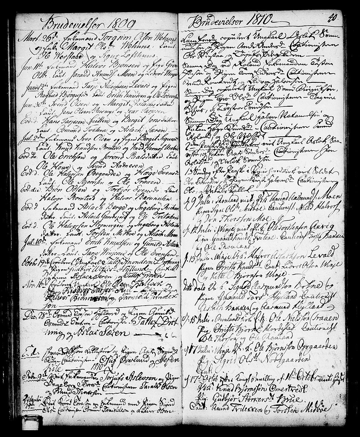 SAKO, Vinje kirkebøker, F/Fa/L0002: Ministerialbok nr. I 2, 1767-1814, s. 40