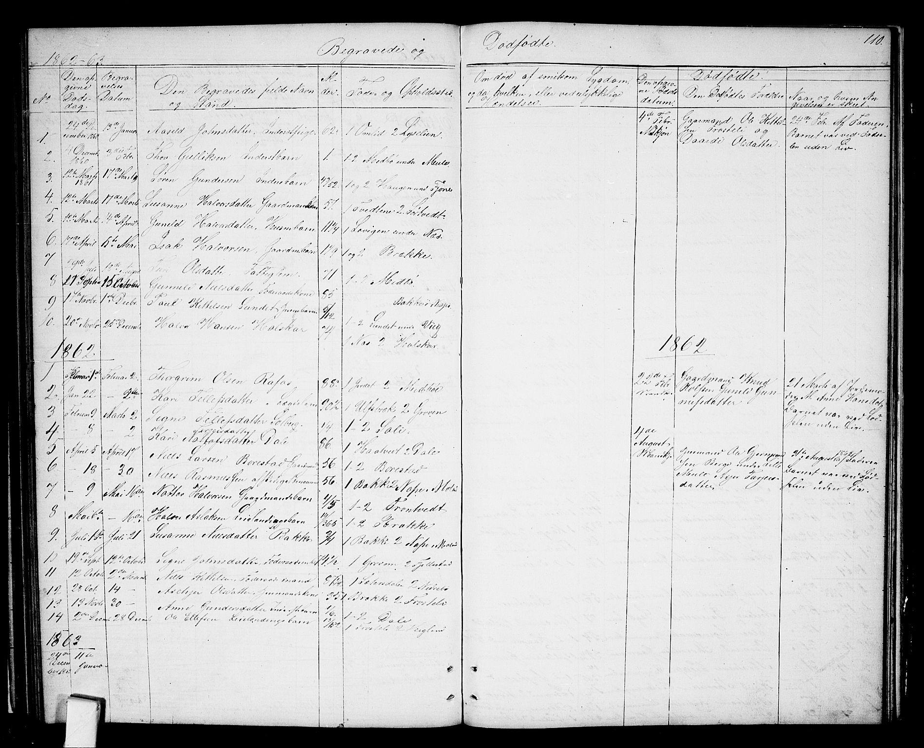 SAKO, Nissedal kirkebøker, G/Ga/L0002: Klokkerbok nr. I 2, 1861-1887, s. 110