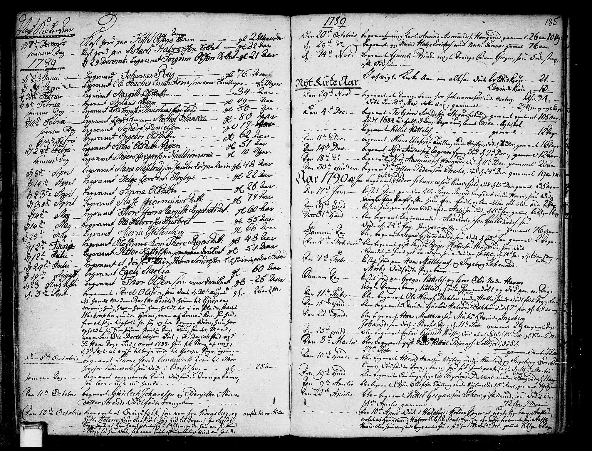 SAKO, Heddal kirkebøker, F/Fa/L0004: Ministerialbok nr. I 4, 1784-1814, s. 185