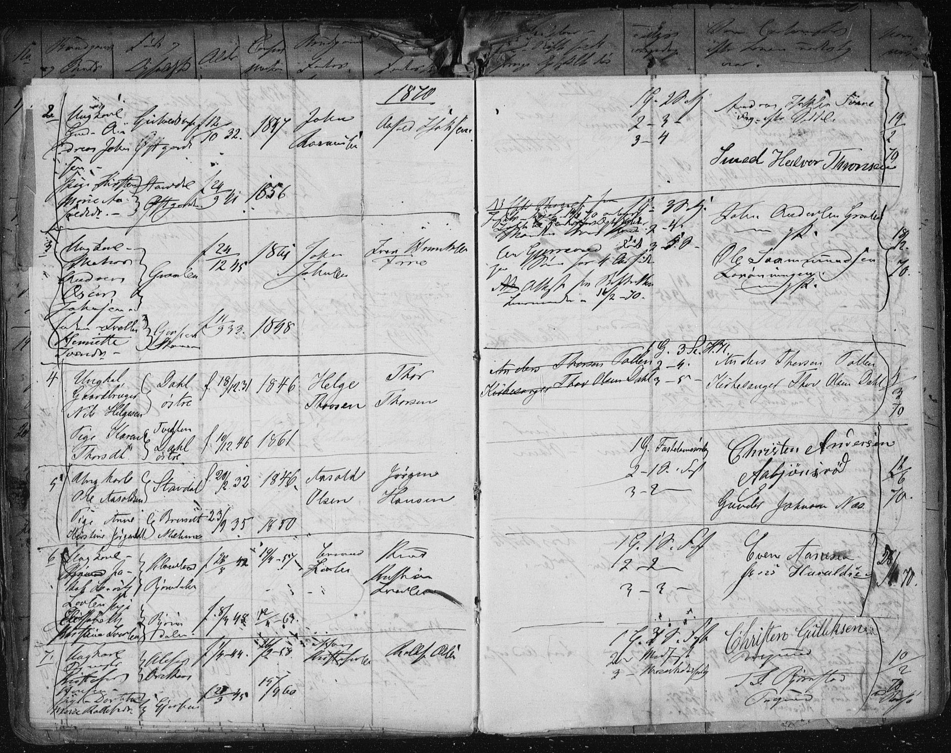 SAKO, Solum kirkebøker, H/Ha/L0001: Lysningsprotokoll nr. I 1, 1846-1879