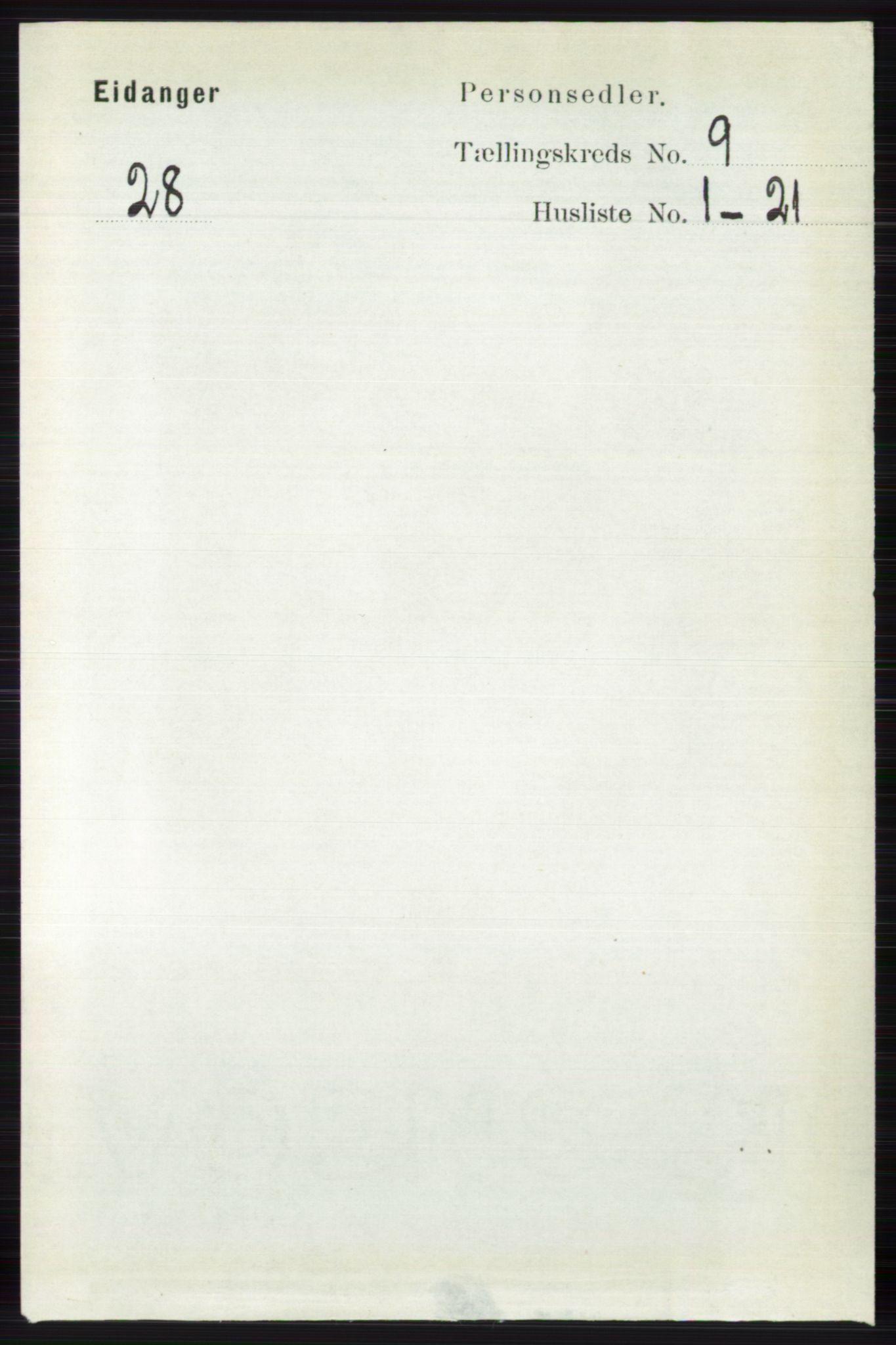 RA, Folketelling 1891 for 0813 Eidanger herred, 1891, s. 3614