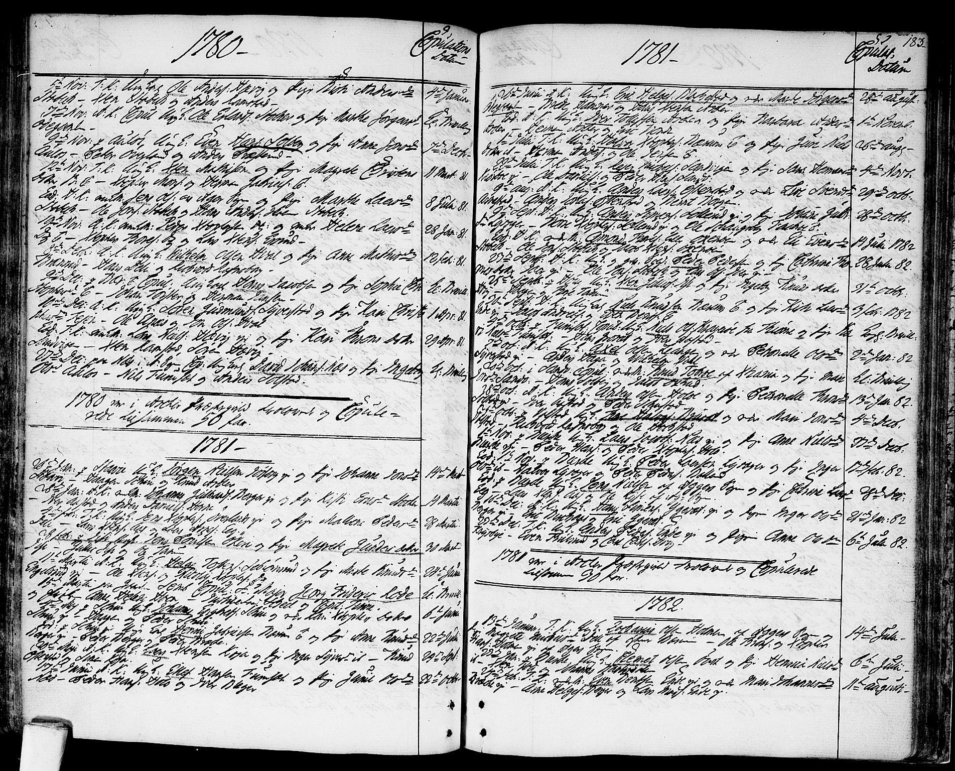 SAO, Asker prestekontor Kirkebøker, F/Fa/L0003: Ministerialbok nr. I 3, 1767-1807, s. 183