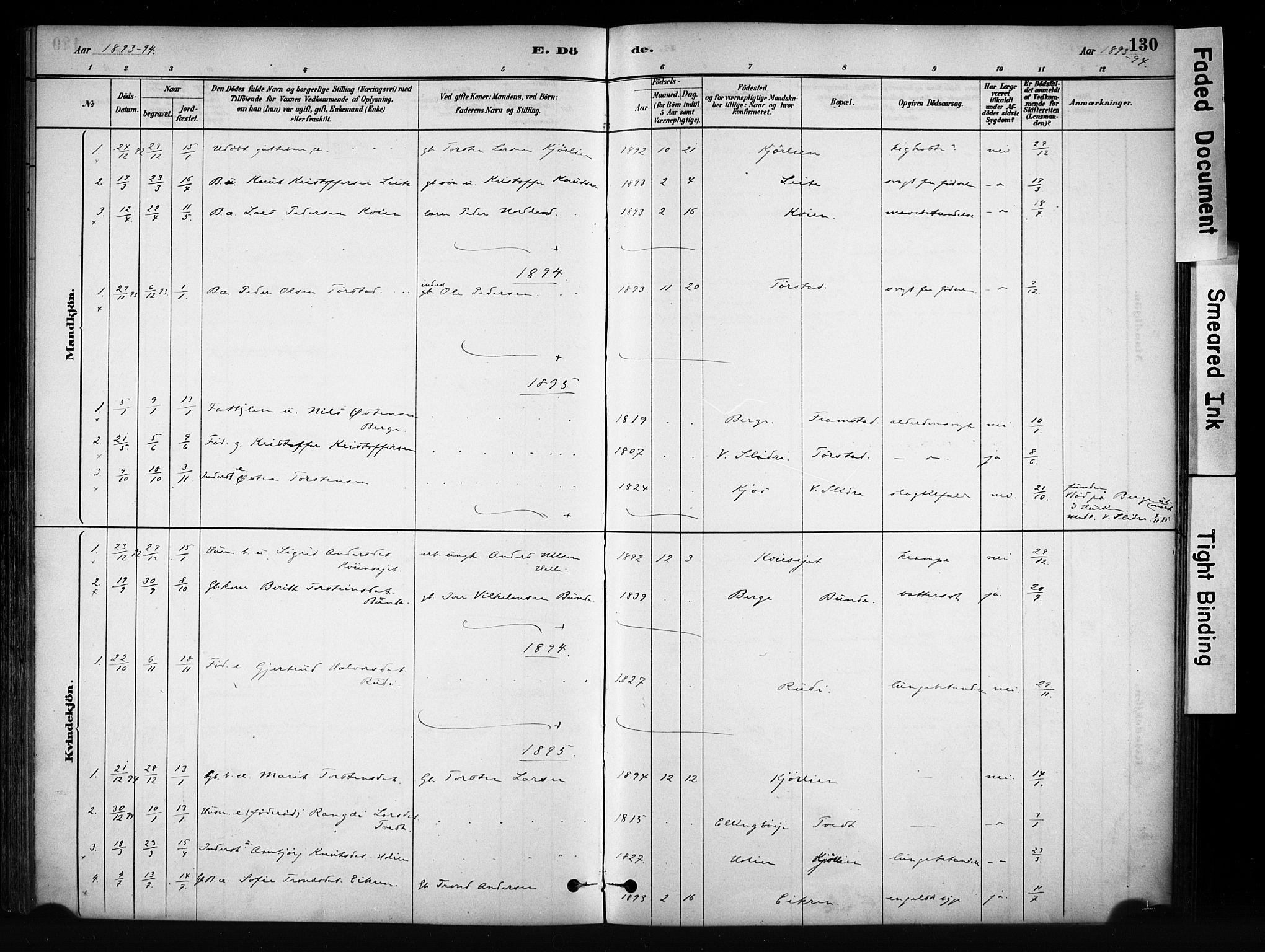 SAH, Vang prestekontor, Valdres, Ministerialbok nr. 9, 1882-1914, s. 130