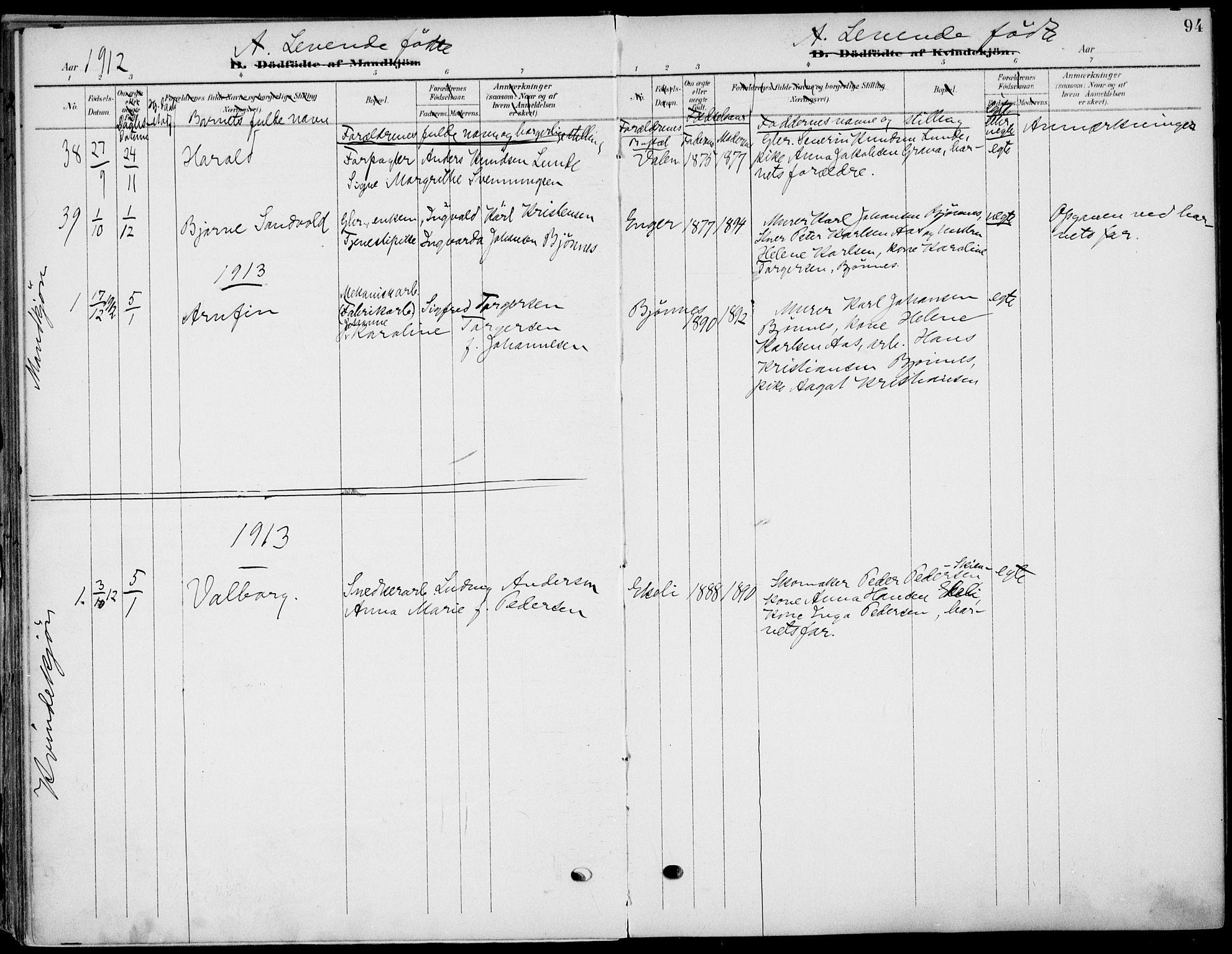 SAKO, Eidanger kirkebøker, F/Fa/L0013: Ministerialbok nr. 13, 1900-1913, s. 94