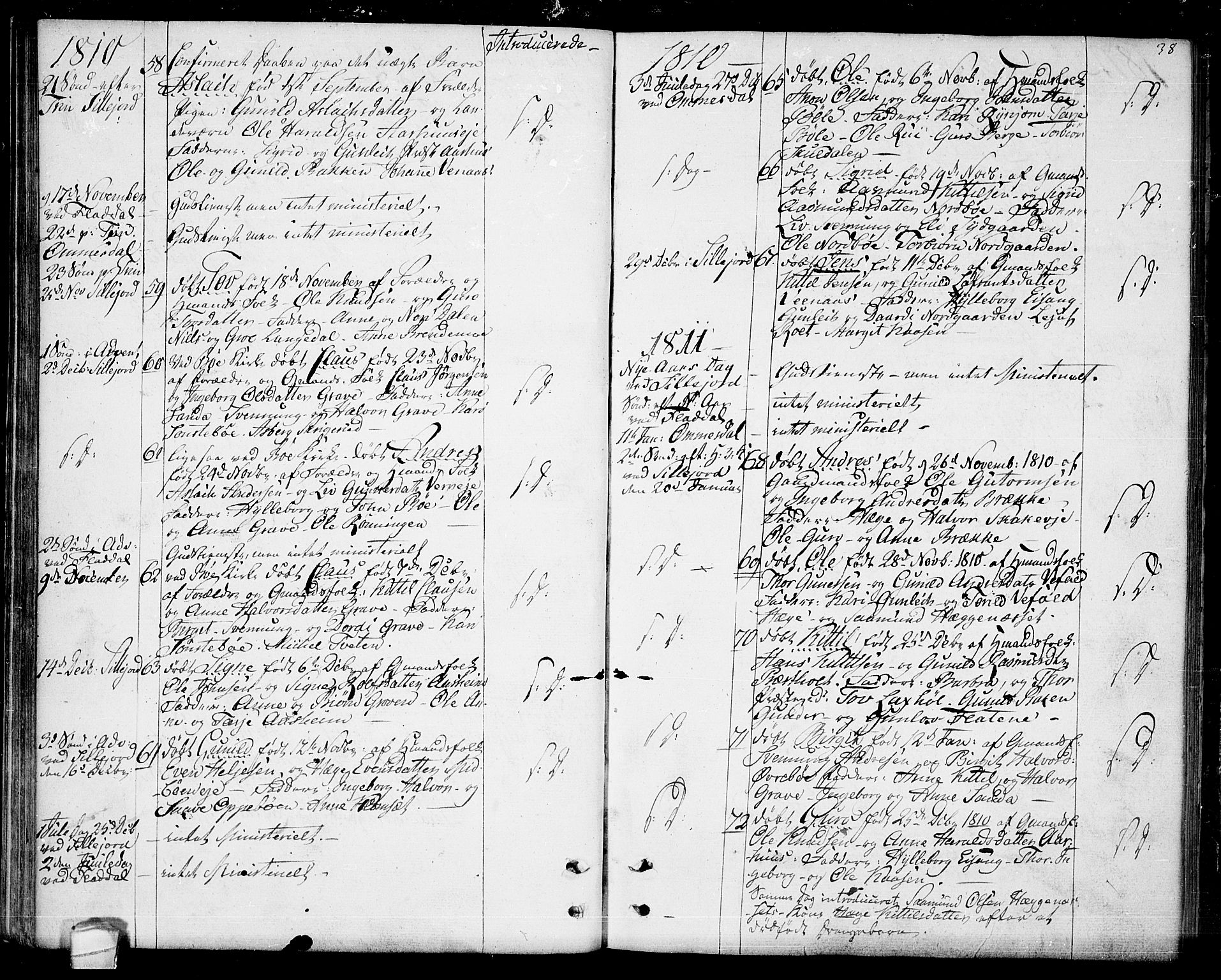 SAKO, Seljord kirkebøker, F/Fa/L0009: Ministerialbok nr. I 9, 1801-1814, s. 38