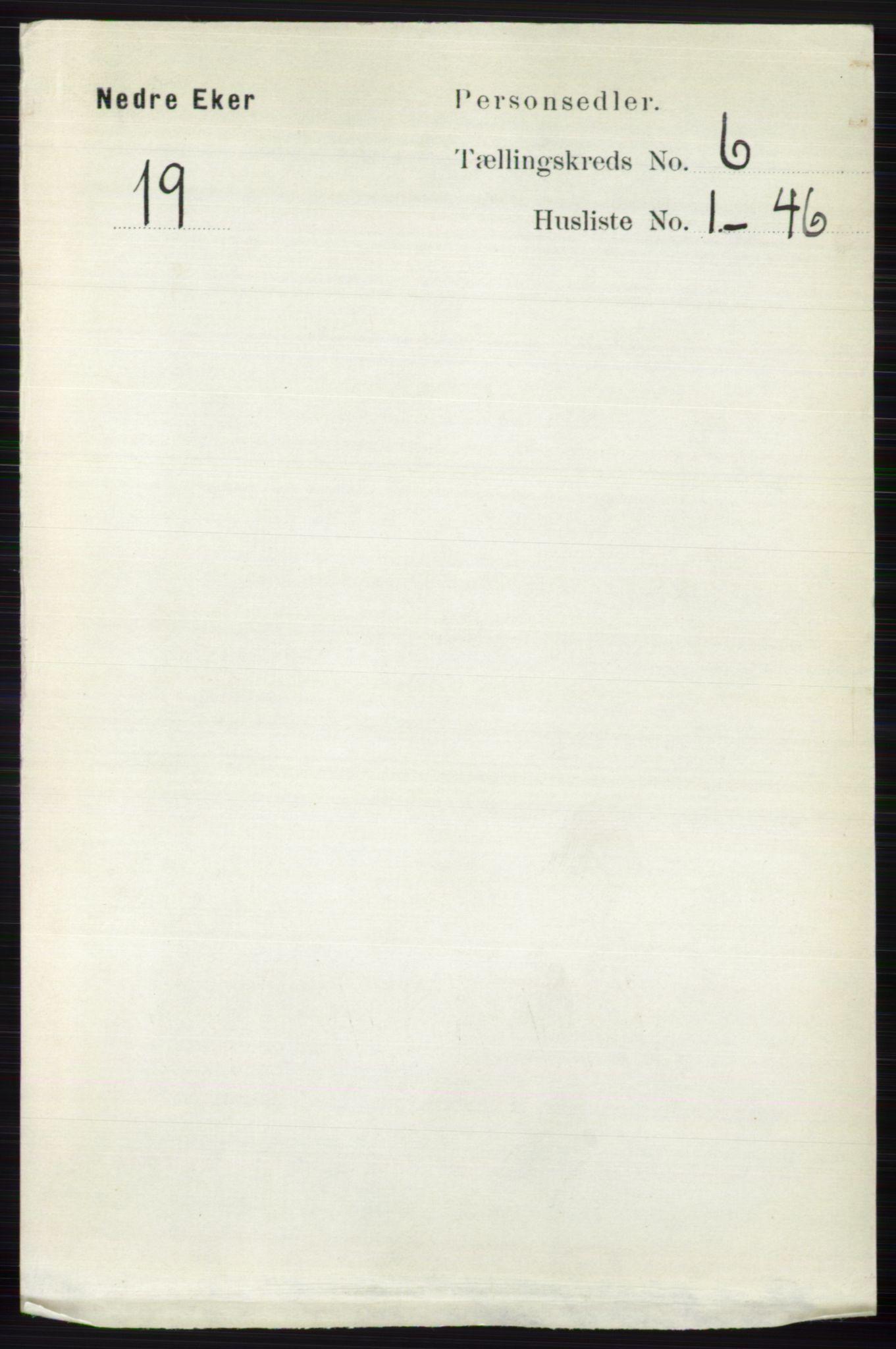RA, Folketelling 1891 for 0625 Nedre Eiker herred, 1891, s. 2894