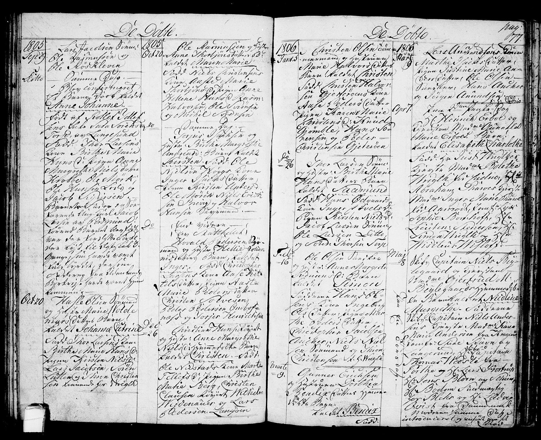 SAKO, Langesund kirkebøker, G/Ga/L0002: Klokkerbok nr. 2, 1801-1815, s. 77