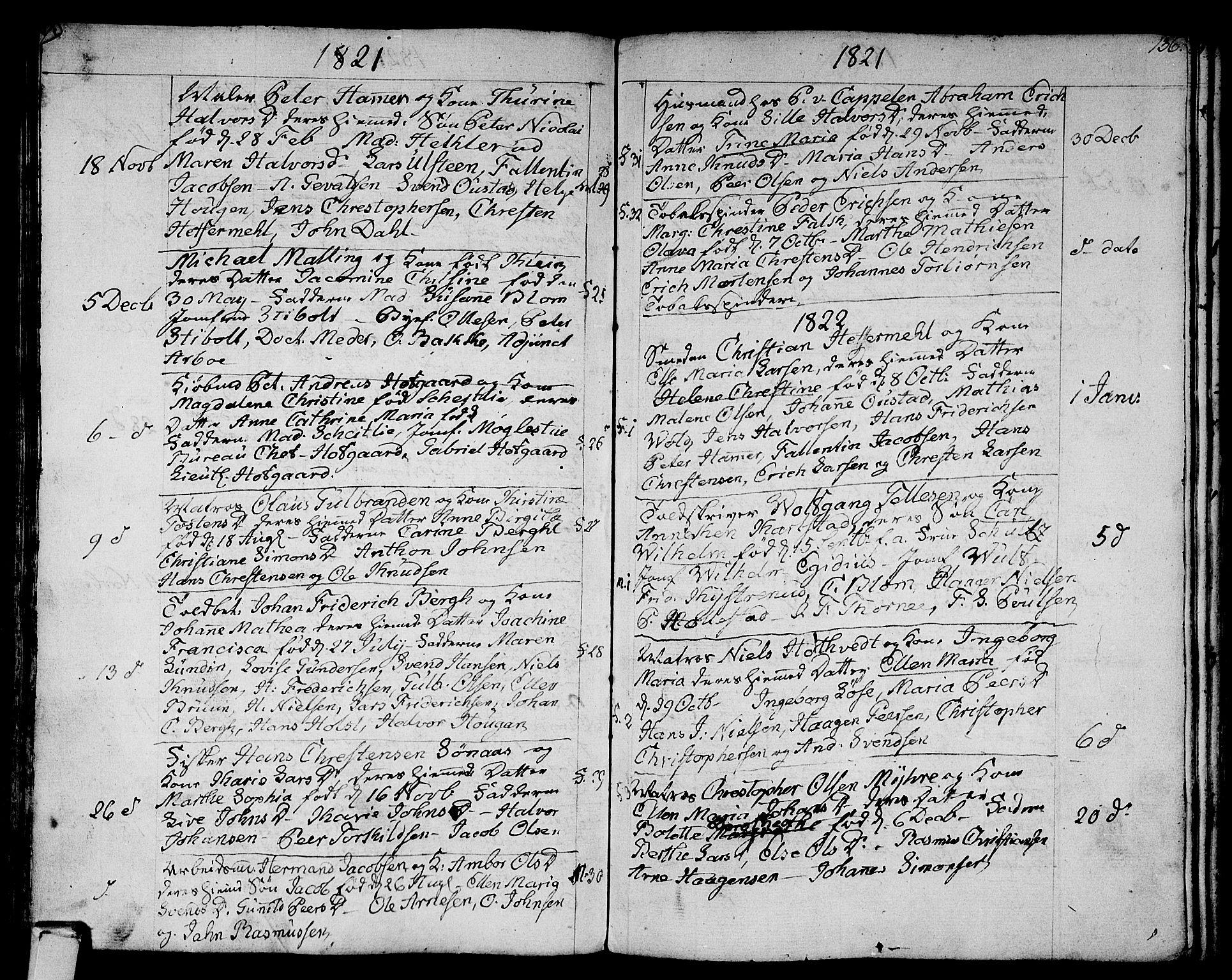 SAKO, Strømsø kirkebøker, F/Fa/L0010: Ministerialbok nr. I 10, 1792-1822, s. 136