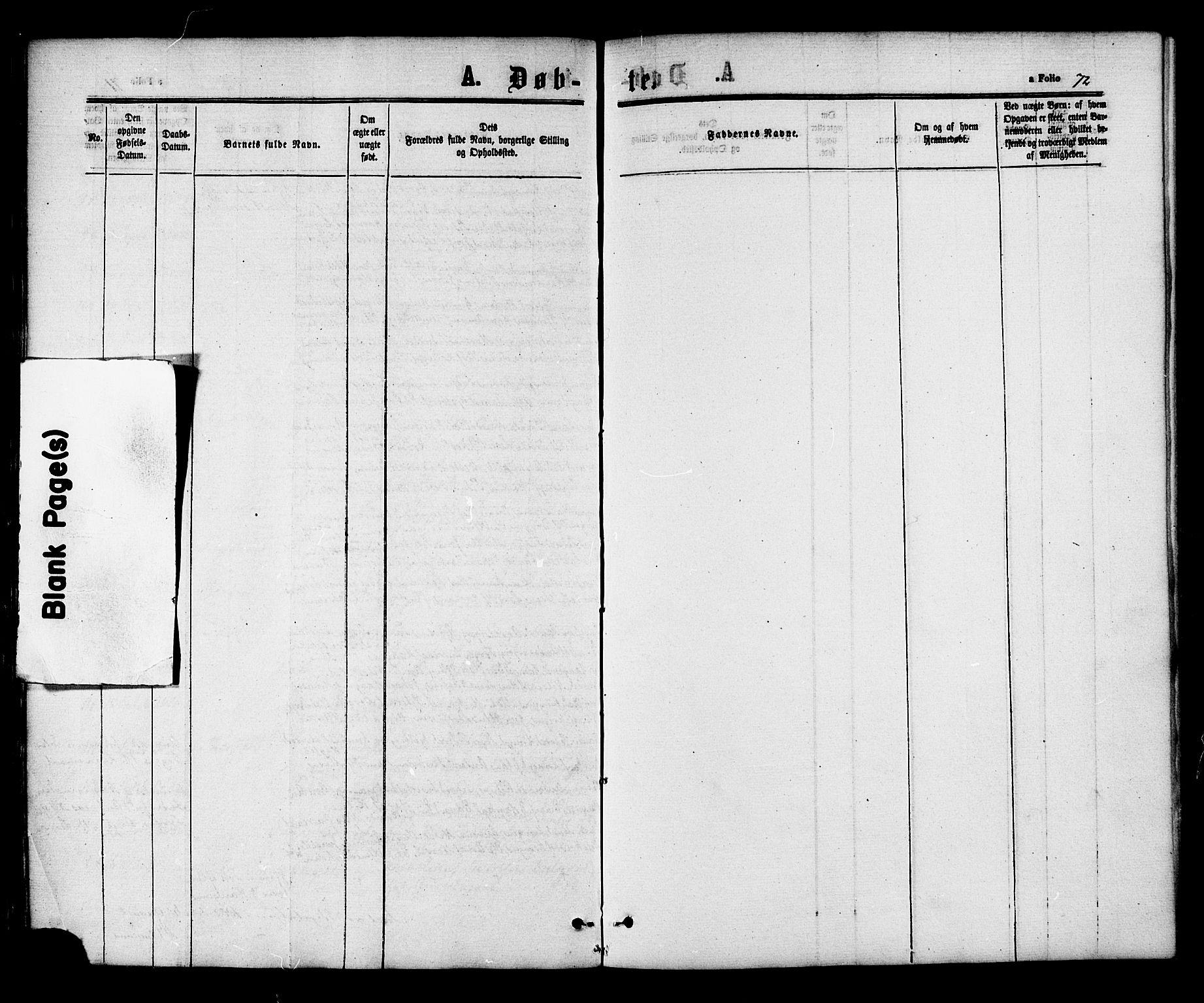SAT, Ministerialprotokoller, klokkerbøker og fødselsregistre - Nord-Trøndelag, 703/L0029: Ministerialbok nr. 703A02, 1863-1879, s. 72