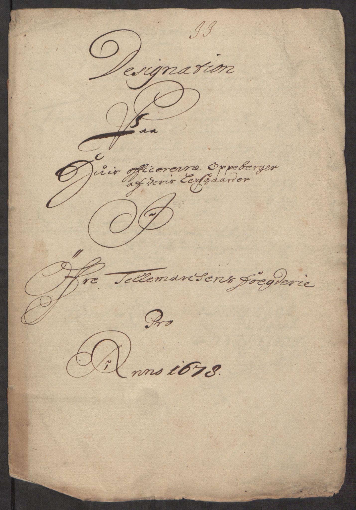 RA, Rentekammeret inntil 1814, Reviderte regnskaper, Fogderegnskap, R35/L2071: Fogderegnskap Øvre og Nedre Telemark, 1678, s. 164