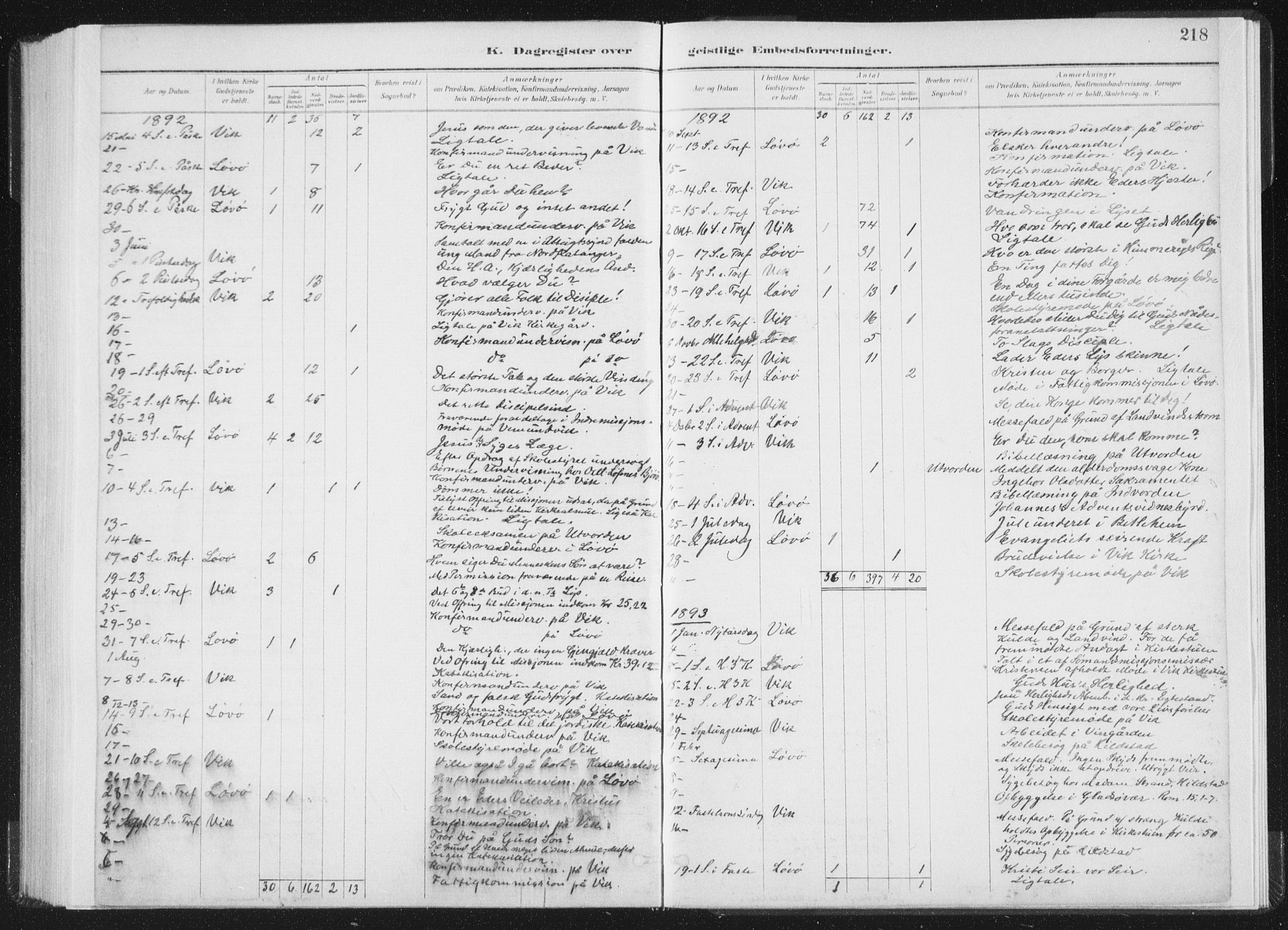SAT, Ministerialprotokoller, klokkerbøker og fødselsregistre - Nord-Trøndelag, 771/L0597: Ministerialbok nr. 771A04, 1885-1910, s. 218