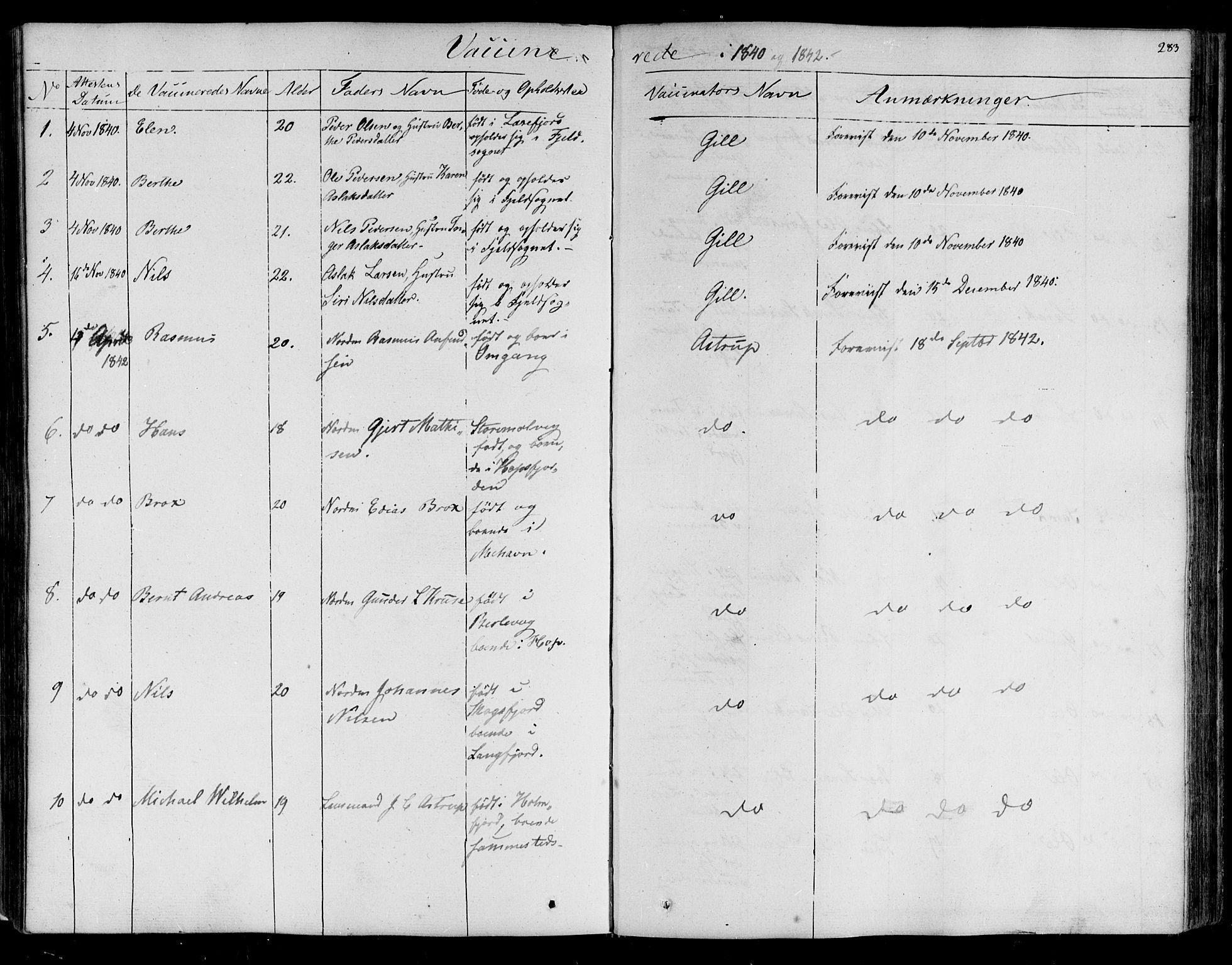 SATØ, Lebesby sokneprestkontor, H/Ha/L0003kirke: Ministerialbok nr. 3, 1833-1852, s. 283