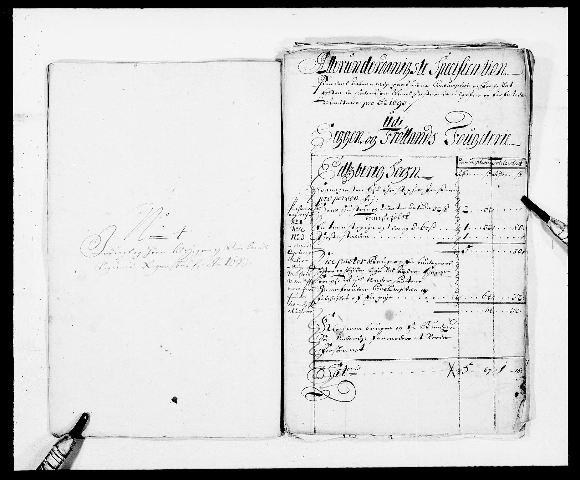 RA, Rentekammeret inntil 1814, Reviderte regnskaper, Fogderegnskap, R06/L0283: Fogderegnskap Heggen og Frøland, 1691-1693, s. 401