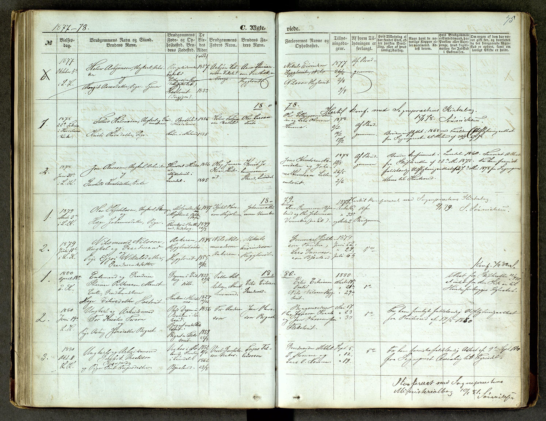 SAKO, Lårdal kirkebøker, G/Ga/L0002: Klokkerbok nr. I 2, 1861-1890, s. 75