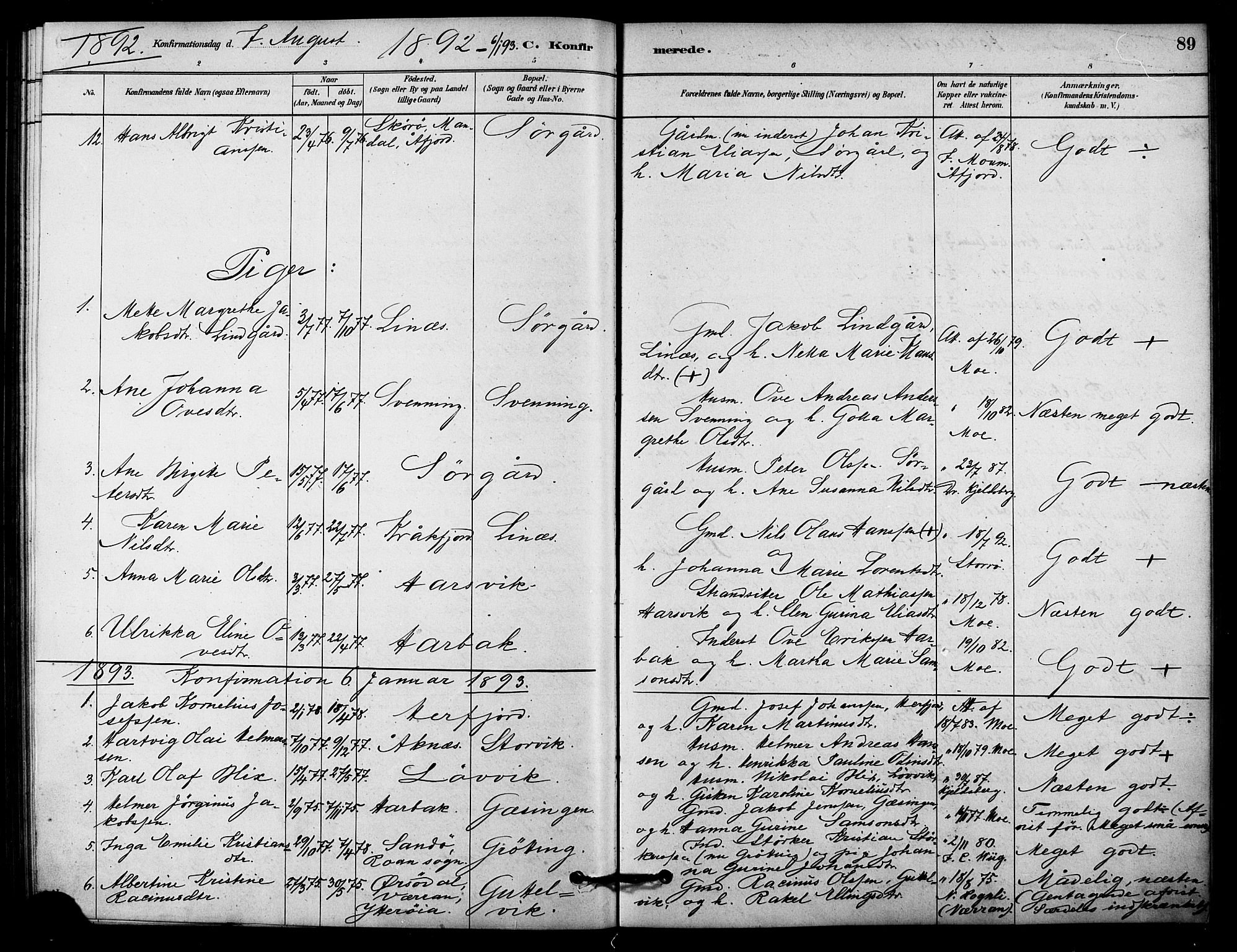 SAT, Ministerialprotokoller, klokkerbøker og fødselsregistre - Sør-Trøndelag, 656/L0692: Ministerialbok nr. 656A01, 1879-1893, s. 89