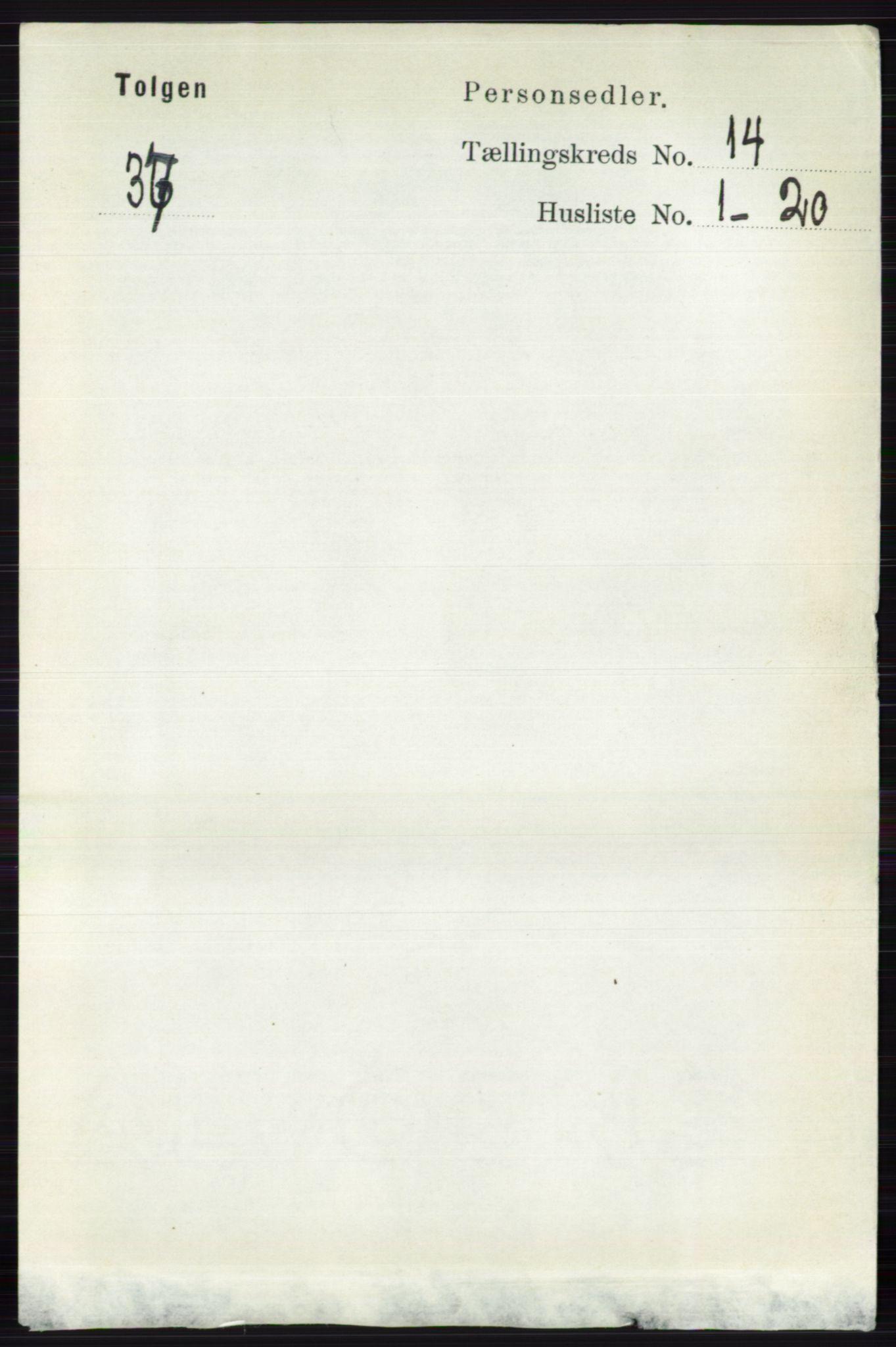 RA, Folketelling 1891 for 0436 Tolga herred, 1891, s. 4124