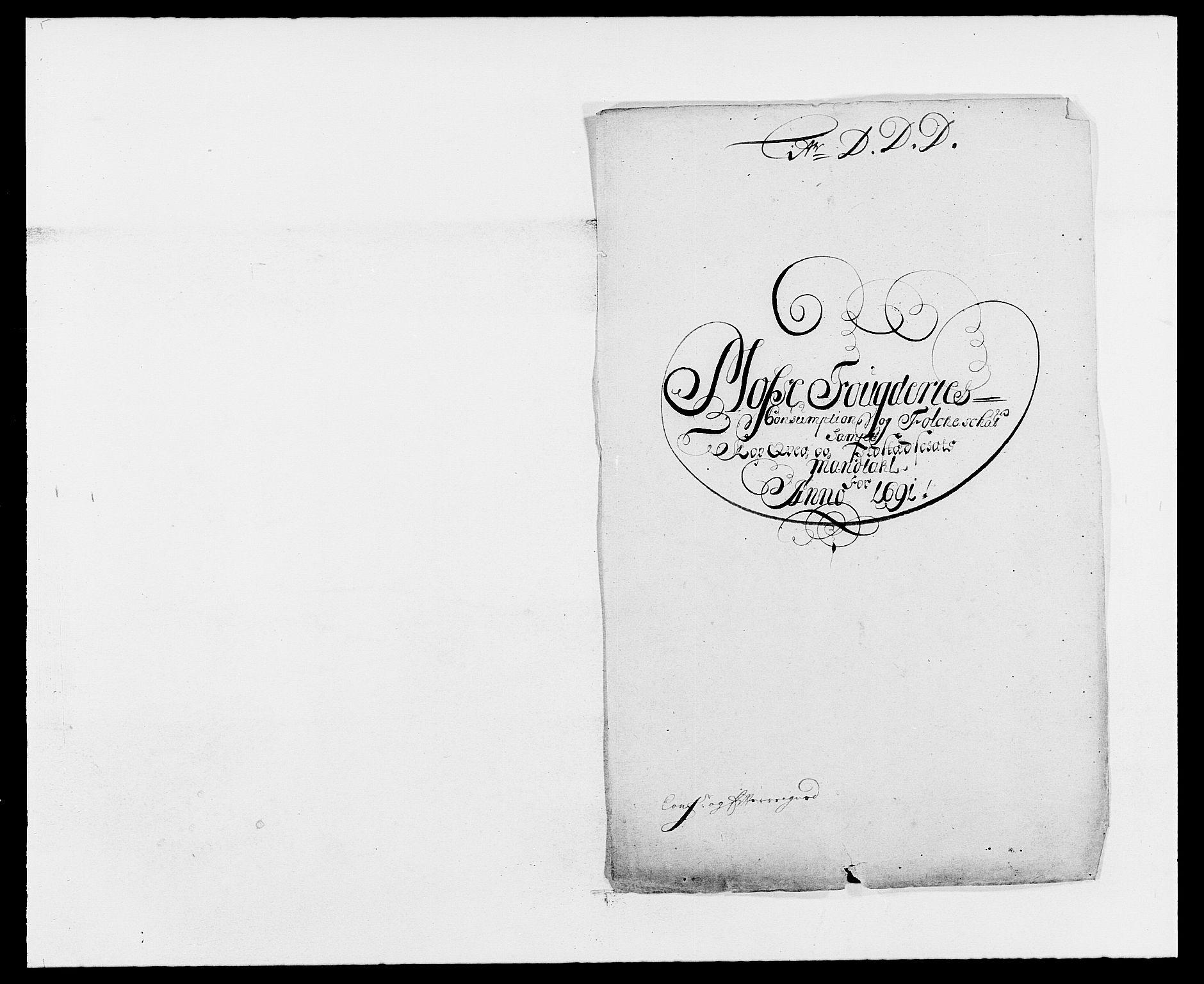 RA, Rentekammeret inntil 1814, Reviderte regnskaper, Fogderegnskap, R02/L0106: Fogderegnskap Moss og Verne kloster, 1688-1691, s. 553