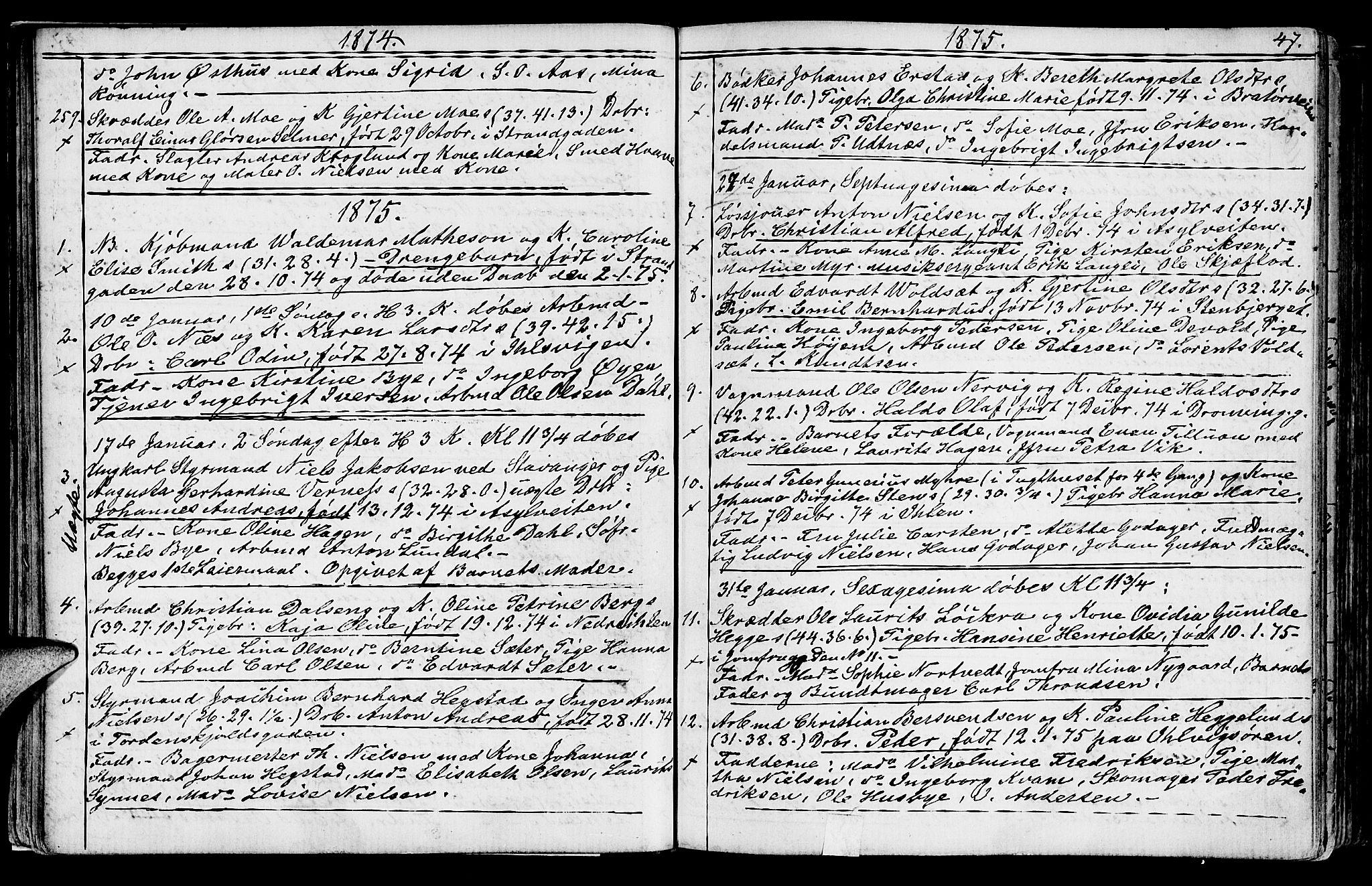 SAT, Ministerialprotokoller, klokkerbøker og fødselsregistre - Sør-Trøndelag, 602/L0142: Klokkerbok nr. 602C10, 1872-1894, s. 47