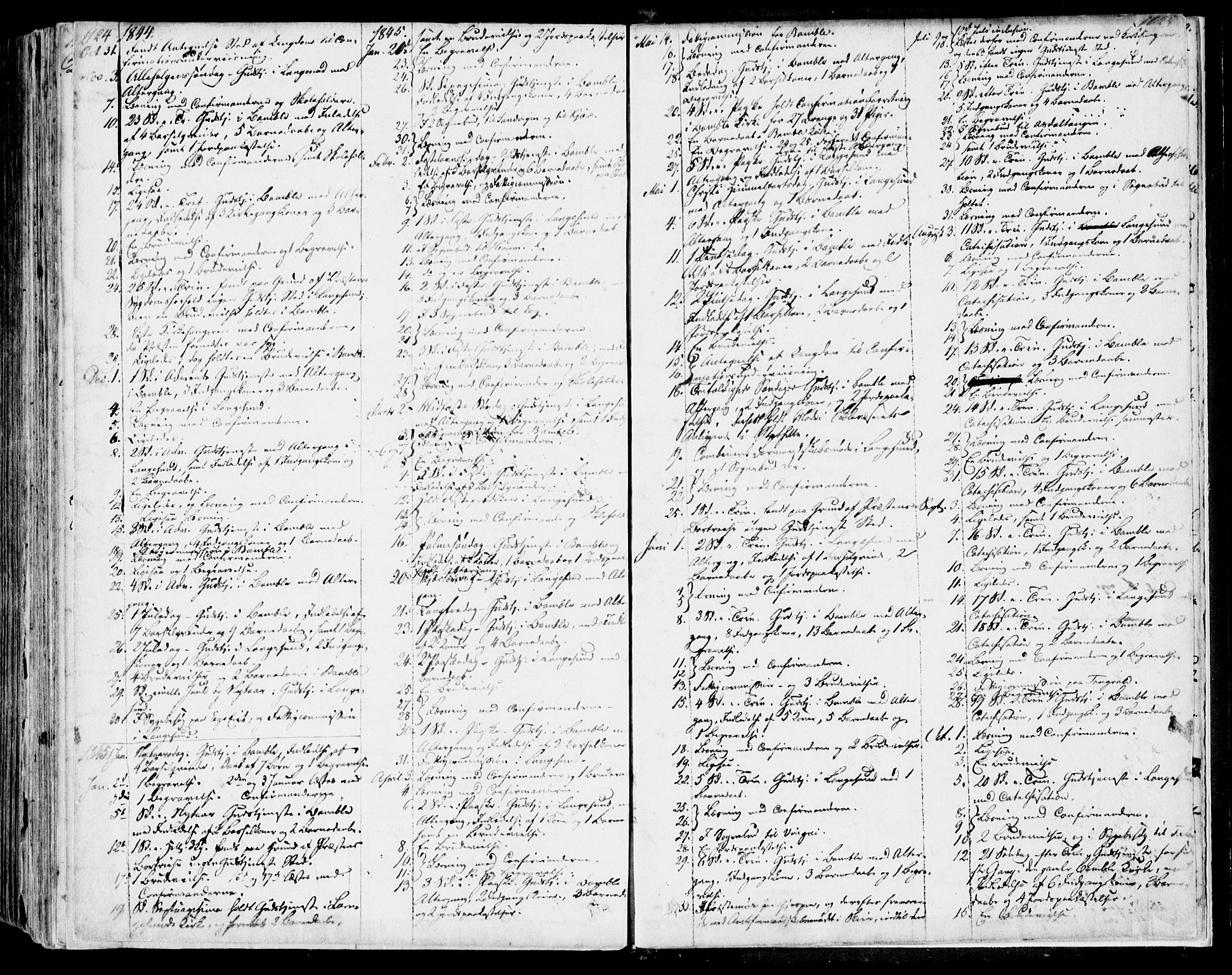 SAKO, Bamble kirkebøker, F/Fa/L0004: Ministerialbok nr. I 4, 1834-1853, s. 1124-1125