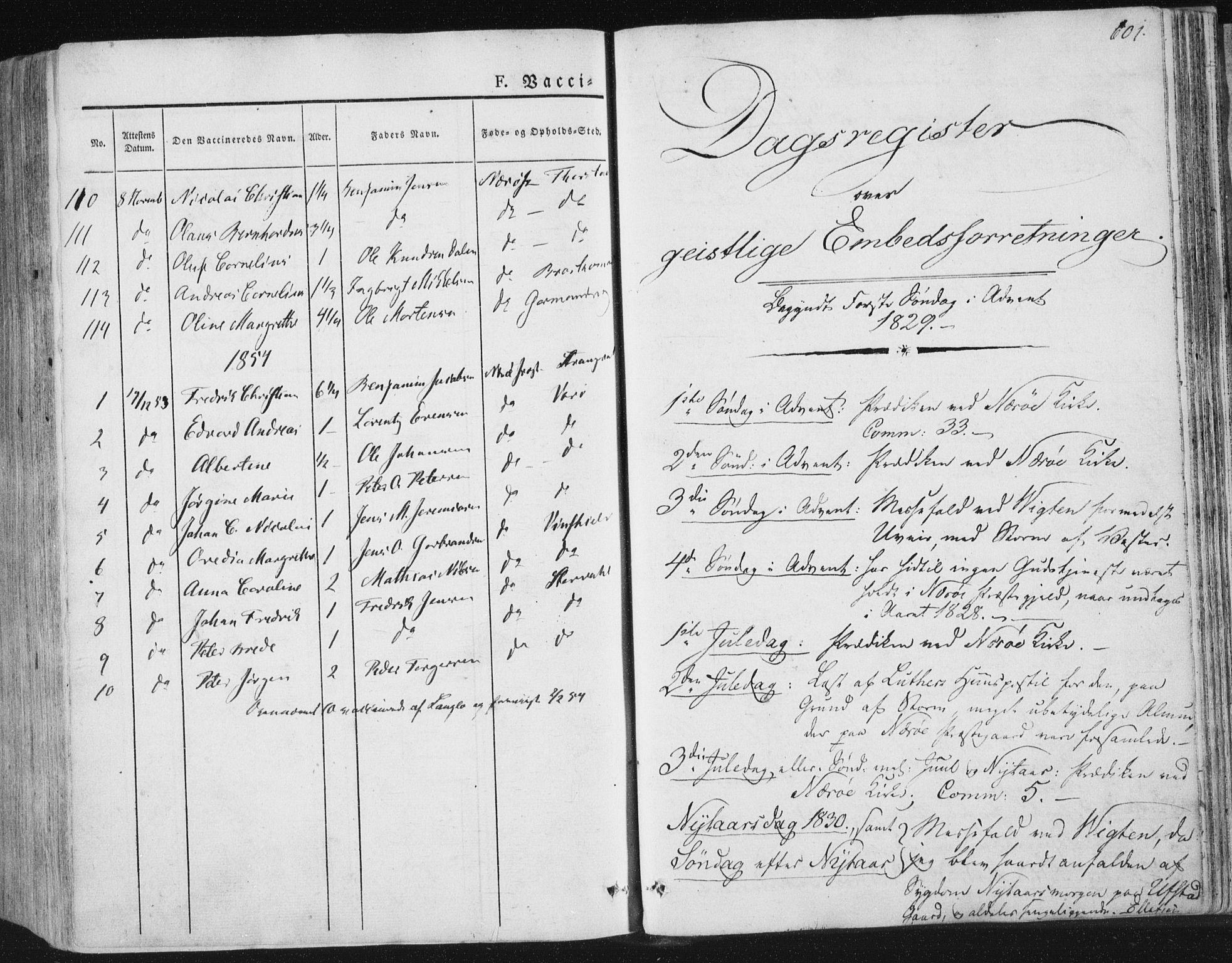 SAT, Ministerialprotokoller, klokkerbøker og fødselsregistre - Nord-Trøndelag, 784/L0669: Ministerialbok nr. 784A04, 1829-1859, s. 601