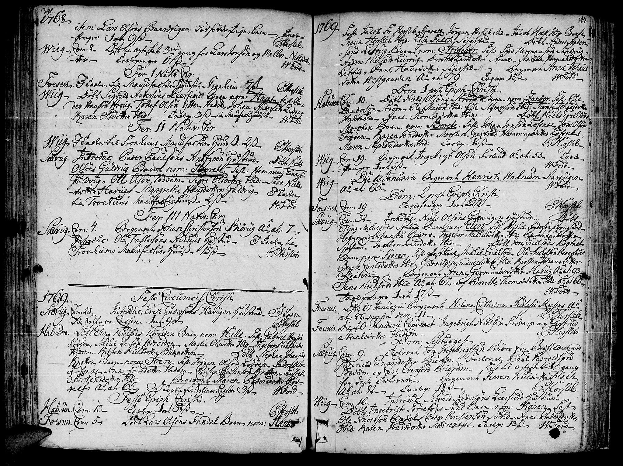 SAT, Ministerialprotokoller, klokkerbøker og fødselsregistre - Nord-Trøndelag, 773/L0607: Ministerialbok nr. 773A01, 1751-1783, s. 346-347