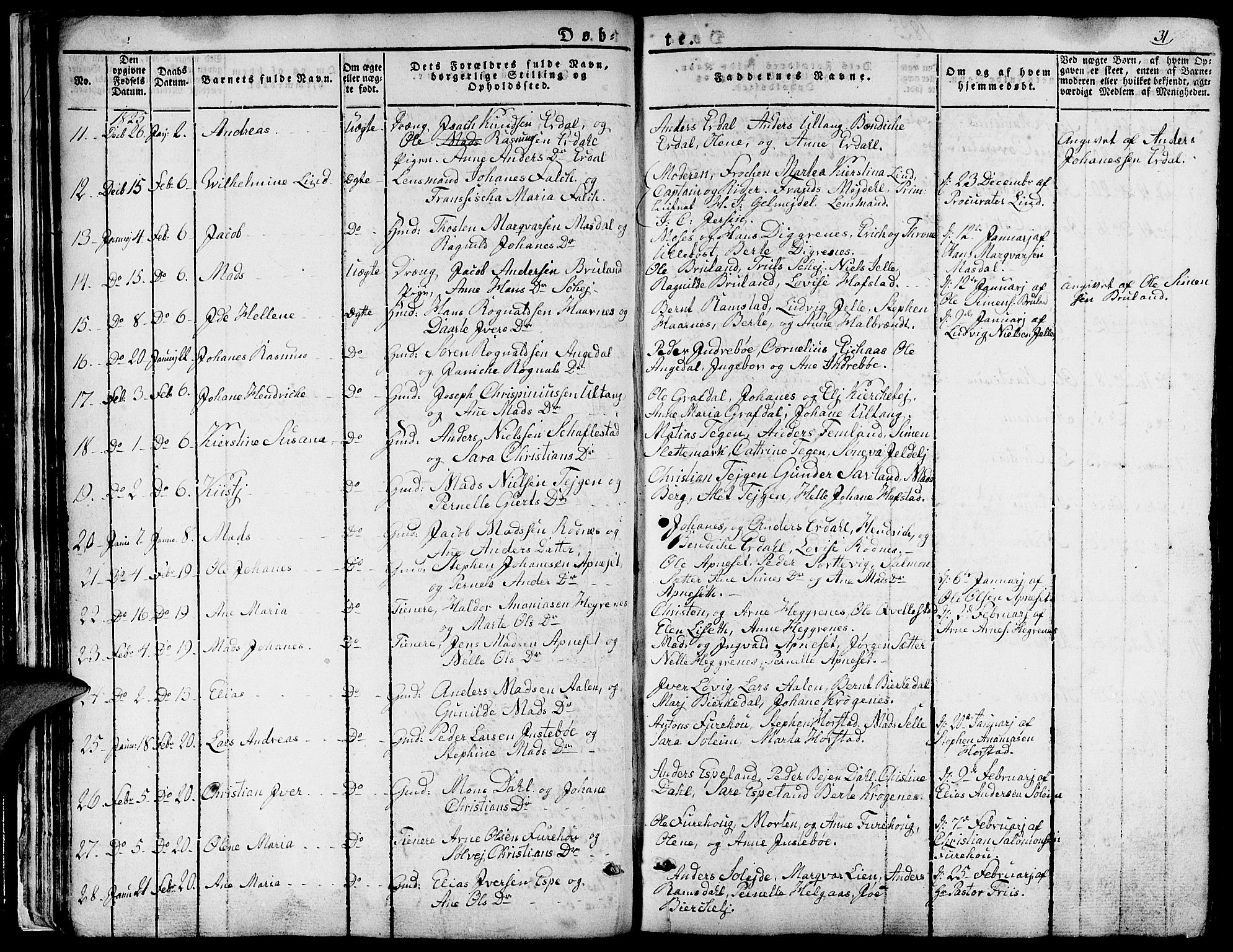 SAB, Førde sokneprestembete, H/Haa: Ministerialbok nr. A 6, 1821-1842, s. 31