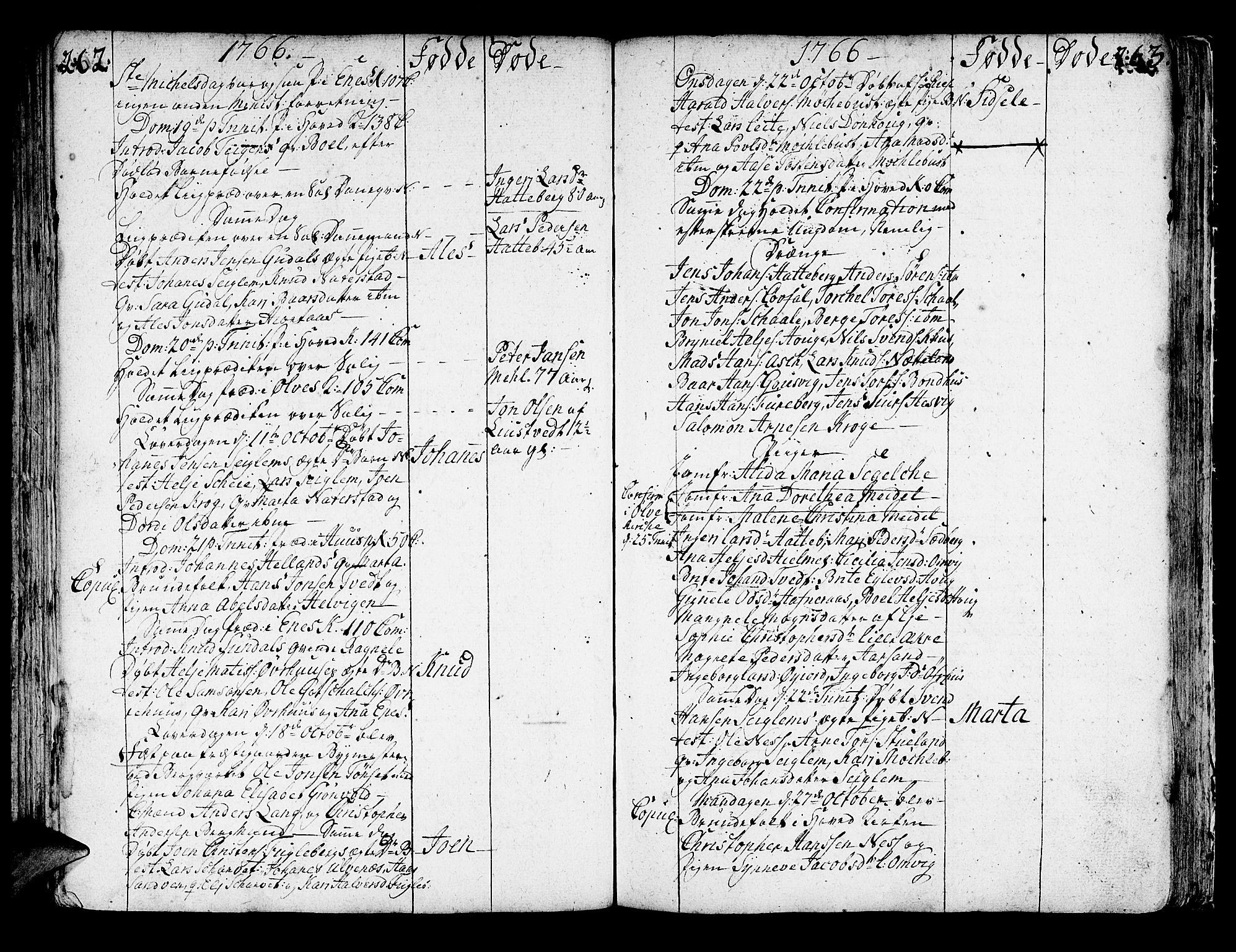 SAB, Kvinnherad Sokneprestembete, H/Haa: Ministerialbok nr. A 3, 1754-1777, s. 262-263