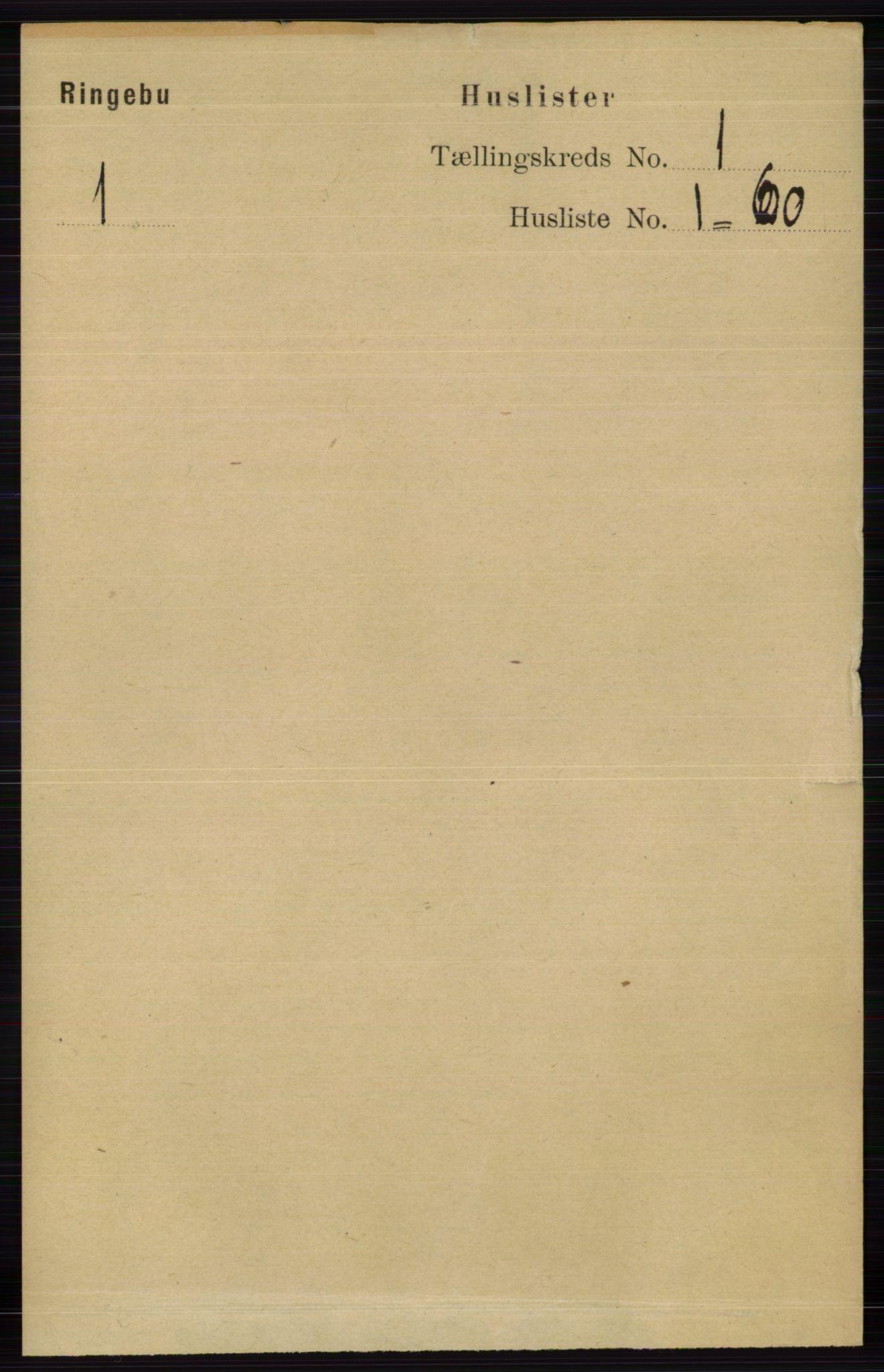 RA, Folketelling 1891 for 0520 Ringebu herred, 1891, s. 30