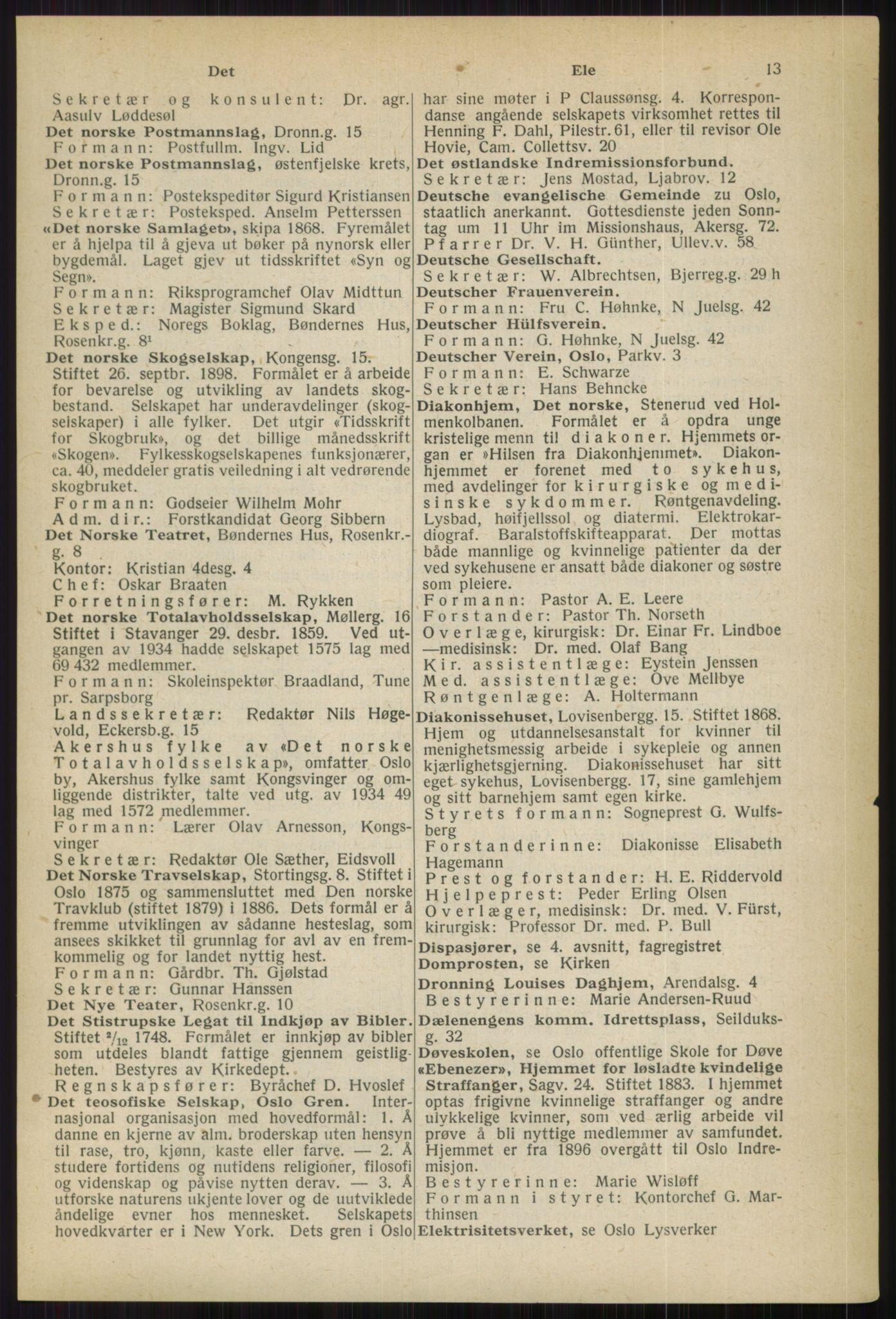 RA, Oslo adressebok (publikasjon)*, 1936, s. 13