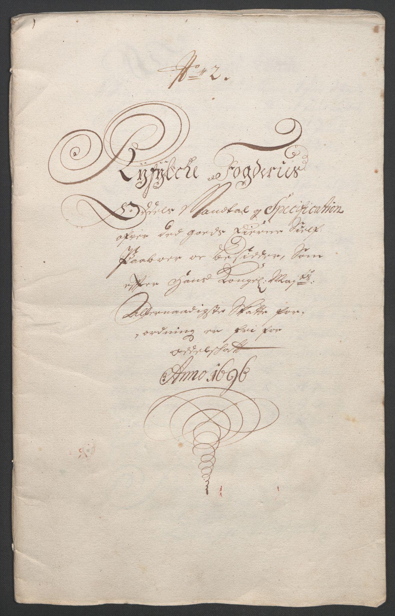 RA, Rentekammeret inntil 1814, Reviderte regnskaper, Fogderegnskap, R47/L2857: Fogderegnskap Ryfylke, 1694-1696, s. 279